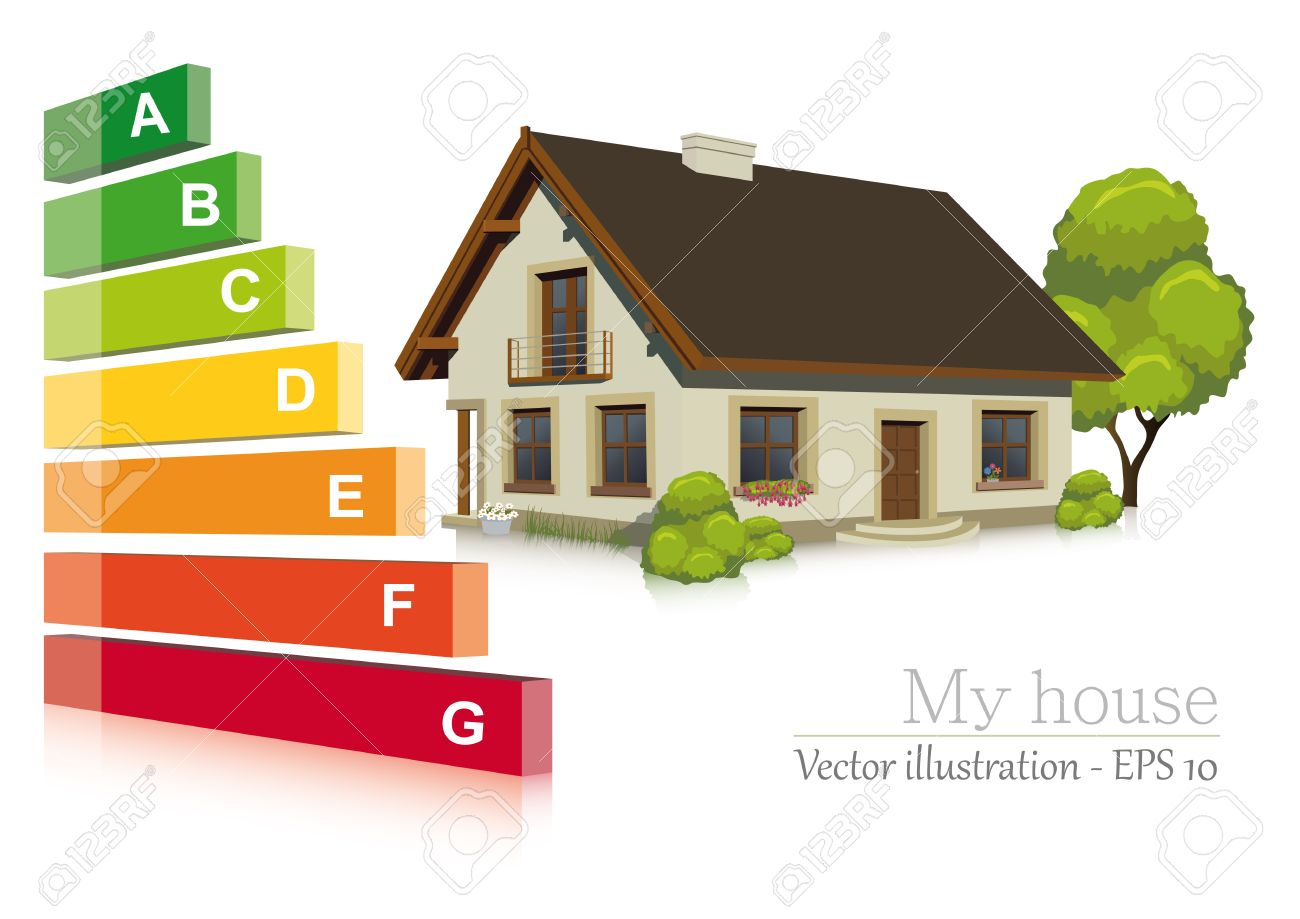 Vector illustration of Energy efficiency in the house - 23289229