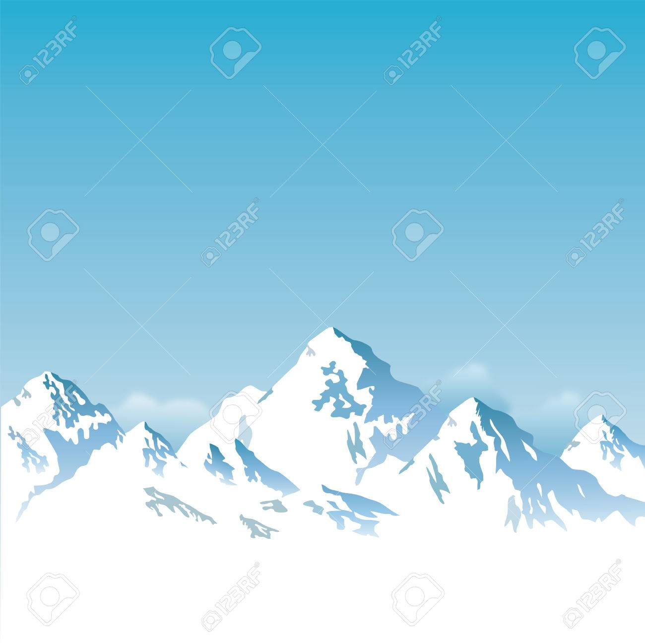 snow capped mountains - background - 57919071