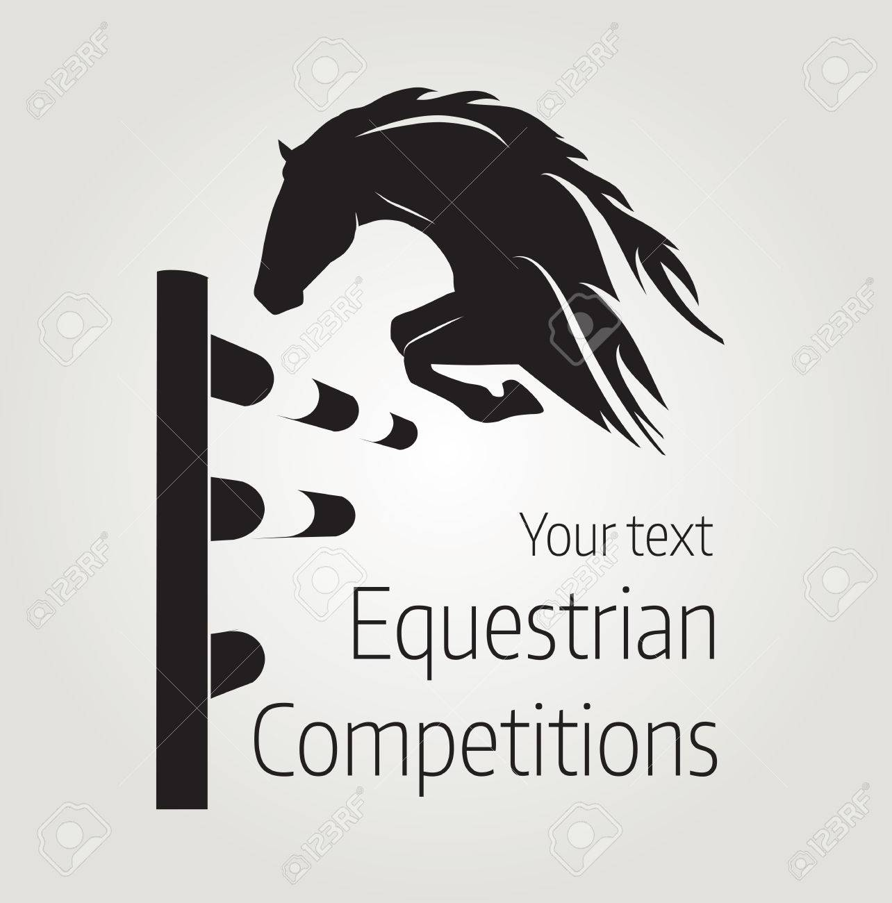 Equestrian competitions - illustration of horse - 68099752