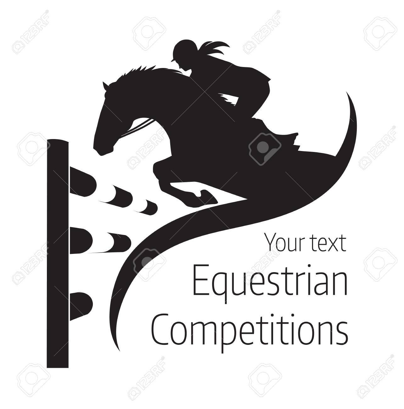 Equestrian competitions - illustration of horse - 68099748