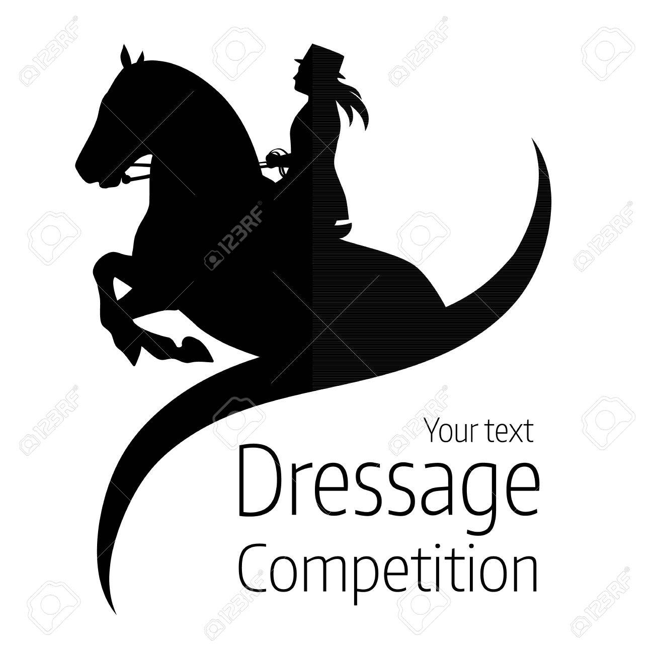 Equestrian dressage competitions - vector illustration of horse - 74902549