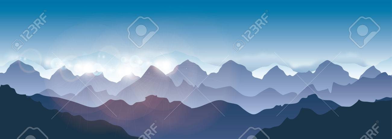 Mountains landscape - Vector illustration panorama - 79981585