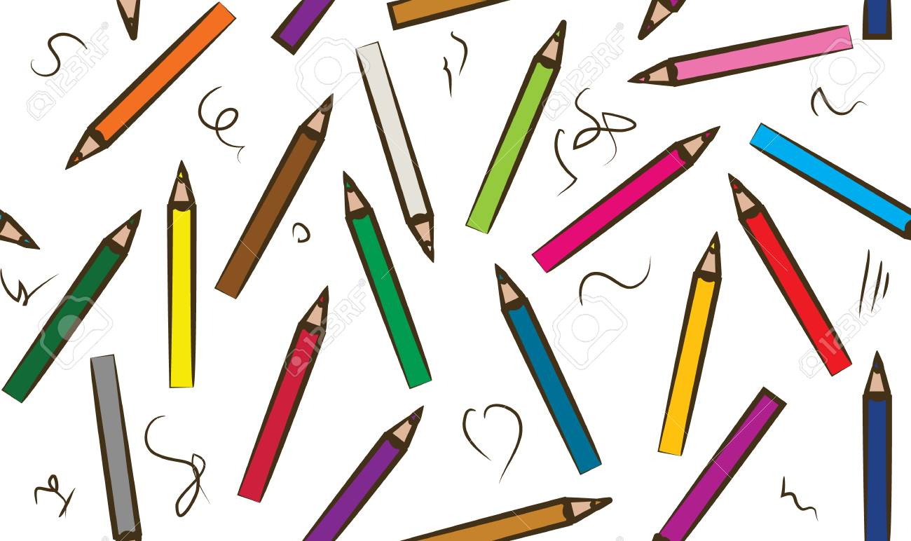 Set of colored pencil collection - Craynos on white background. - 111411152