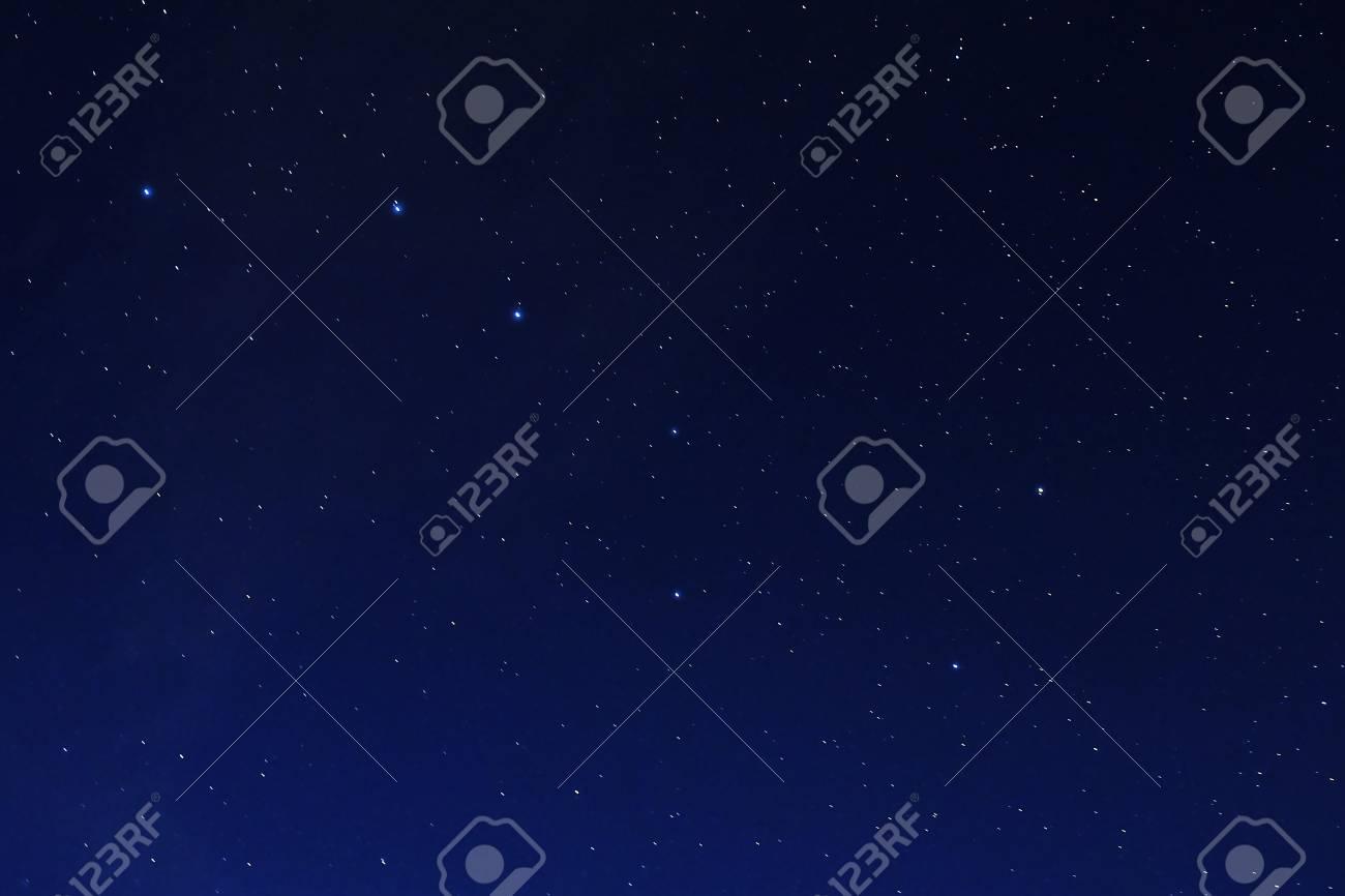 Stars on a dark blue sky at night. Great Bear constellation. - 111411243