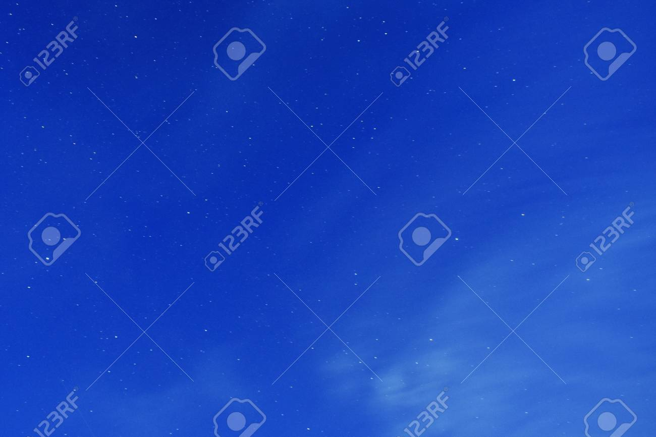 Stars on a dark blue sky at night. - 111411305