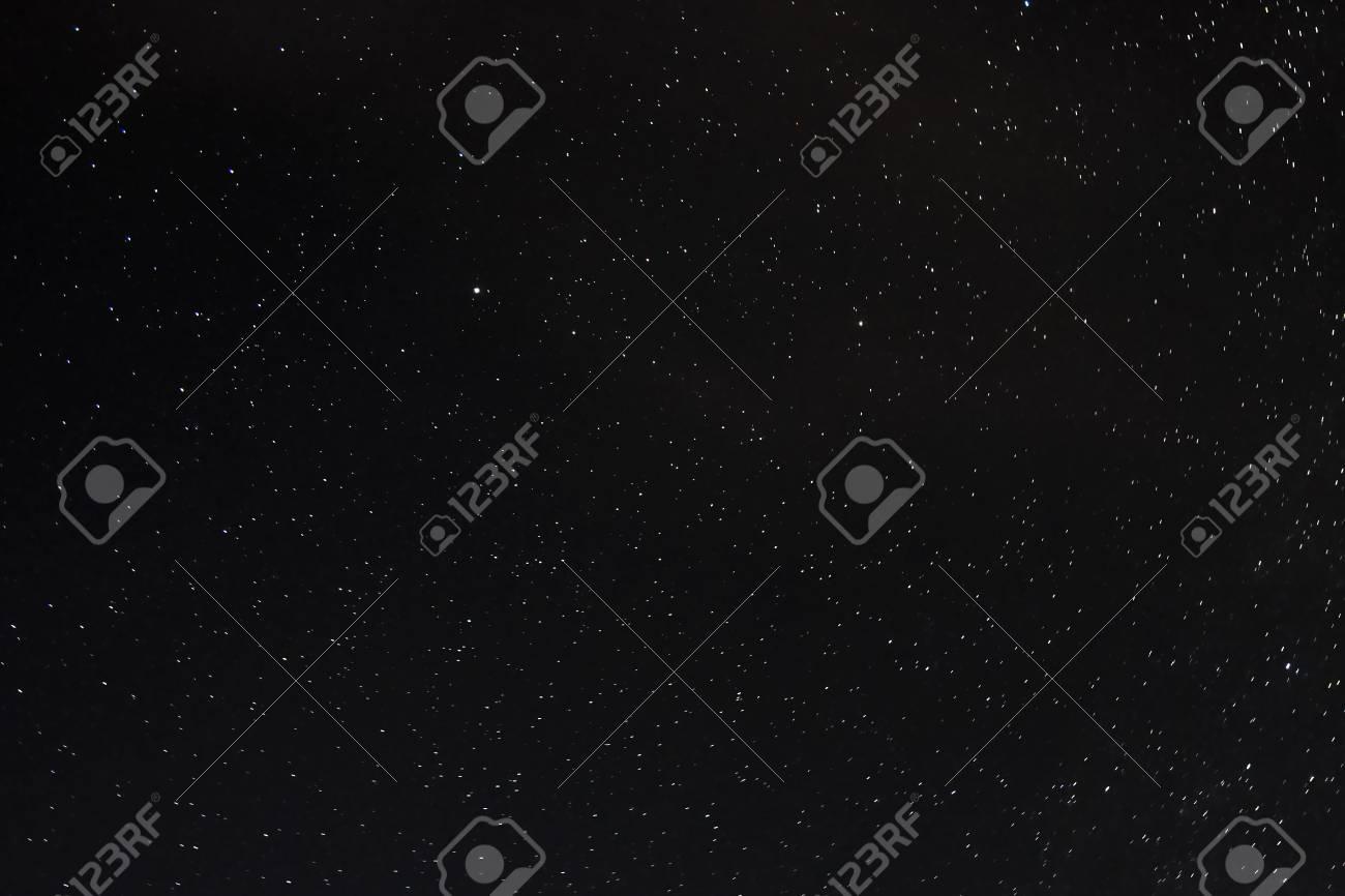 Stars on a dark blue sky at night. Great Bear constellation. - 111411317