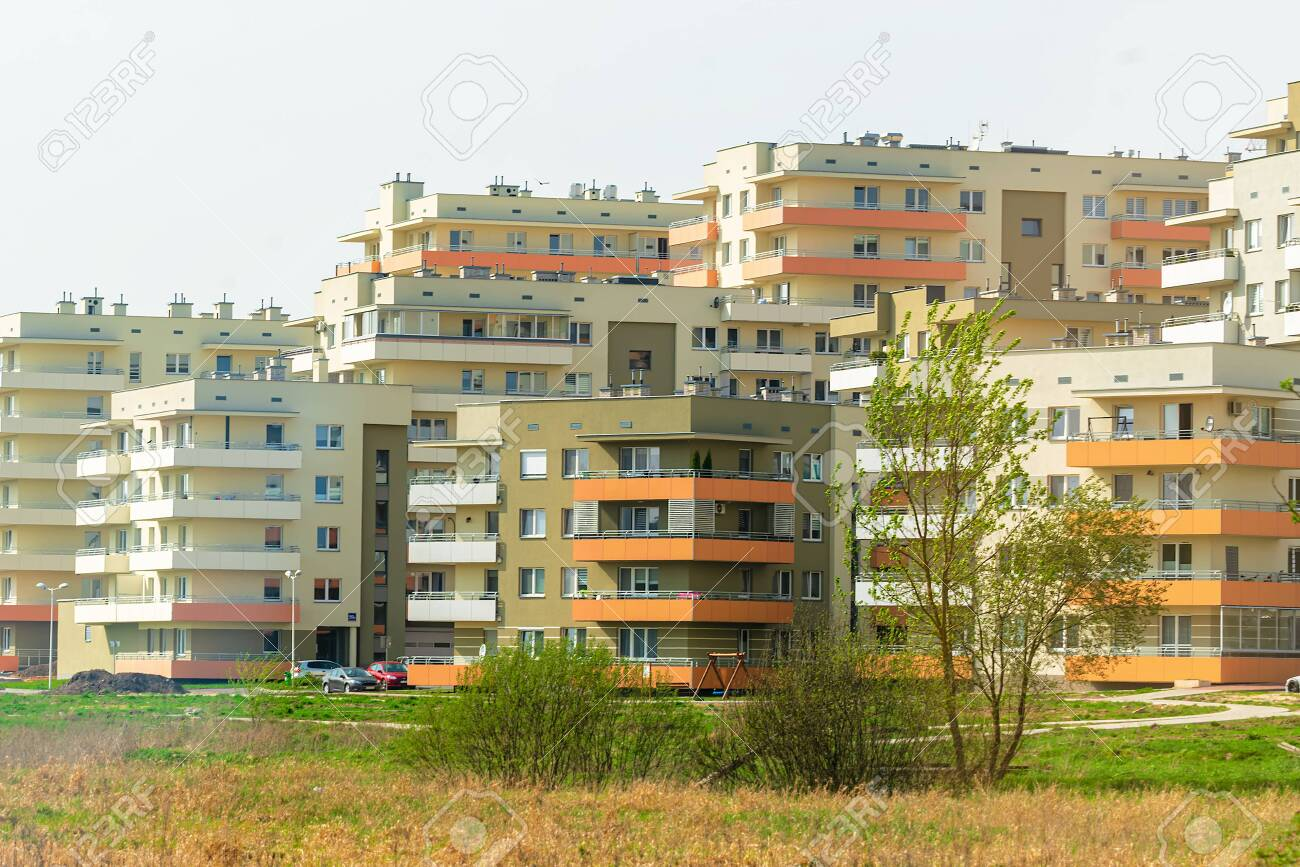 Modern residential district in the suburbs. - 142837814