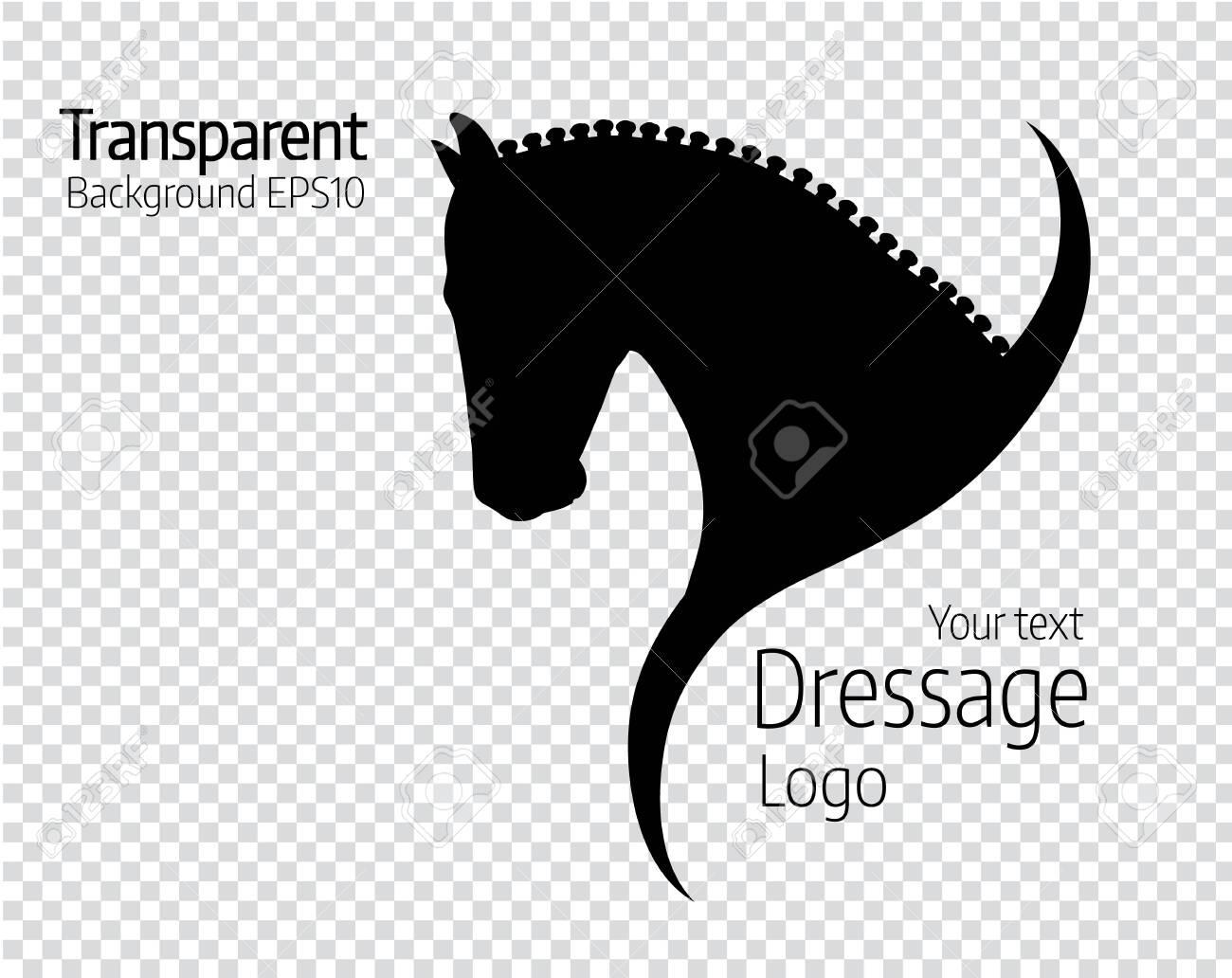 Transparent hand drawn black vector horse logo silhouette. - 148862103