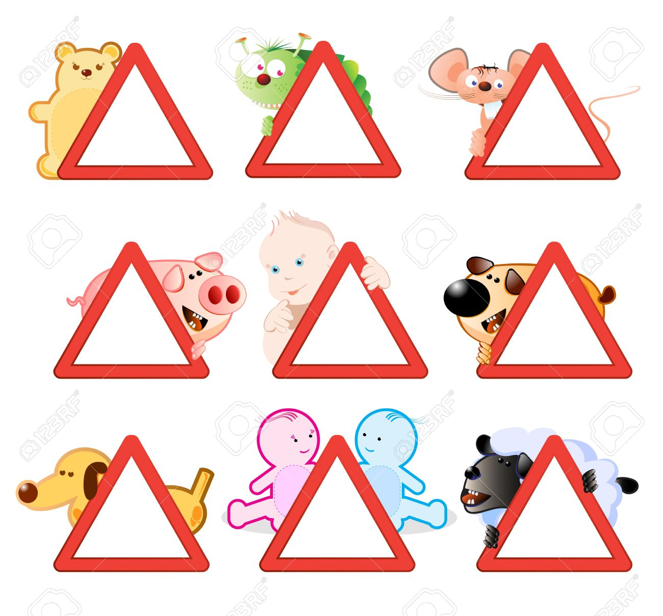 warning signs, funny stickers for cars and other vehicles Stock Vector - 15701678