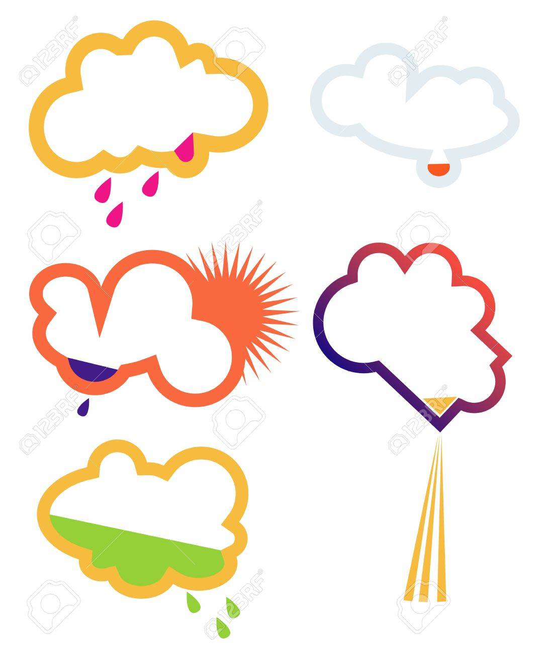 Clouds, signs Stock Vector - 16454386