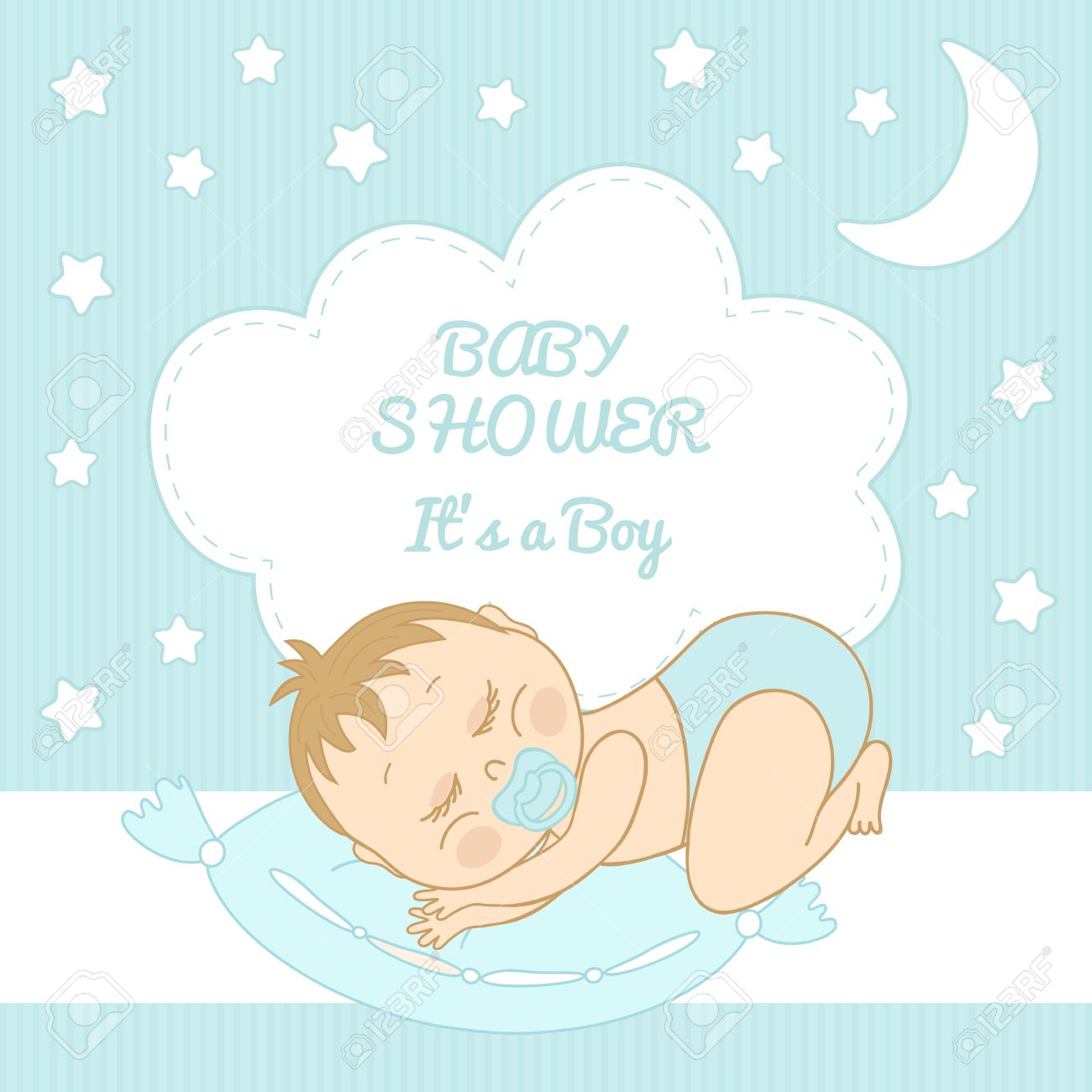 Baby Shower It's a boy congratulations on the birth of a boy Stock Vector -  26078527