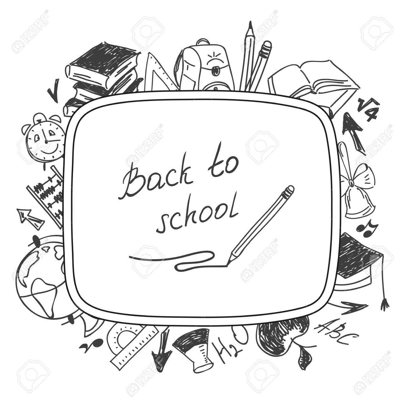 welcome back to school, school background of school supplies