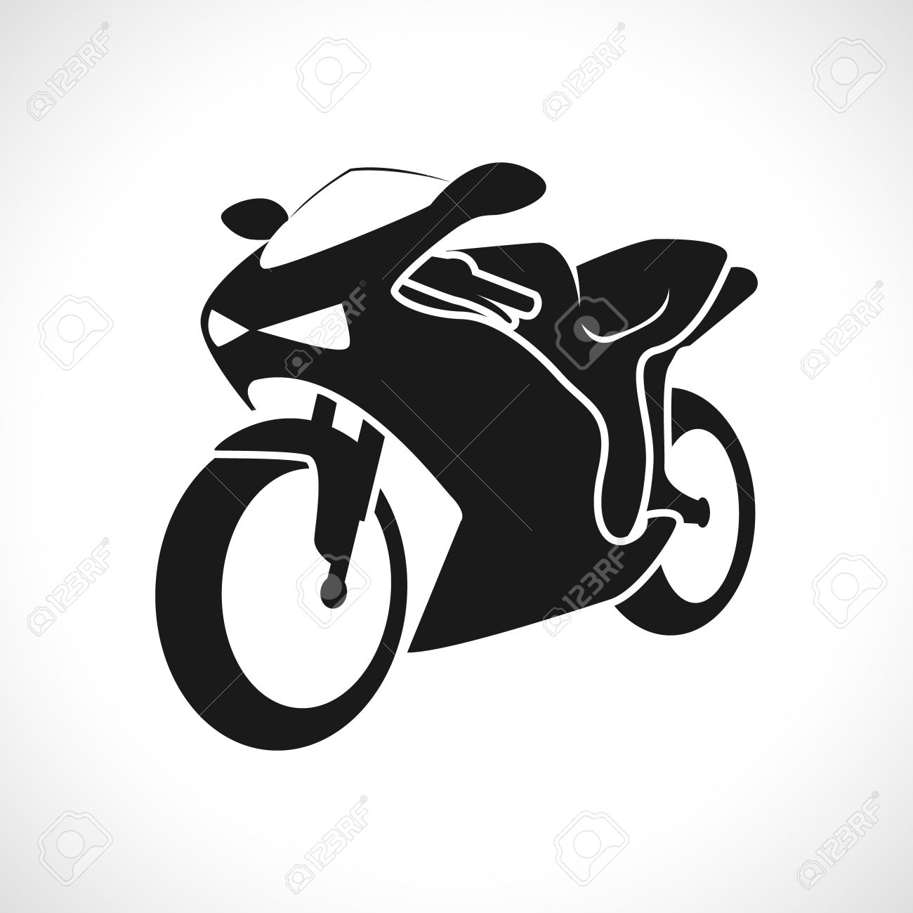 11,579 Motorcycle Silhouette Cliparts, Stock Vector And Royalty Free ... for Racing Motorcycle Clipart Black And White  110zmd
