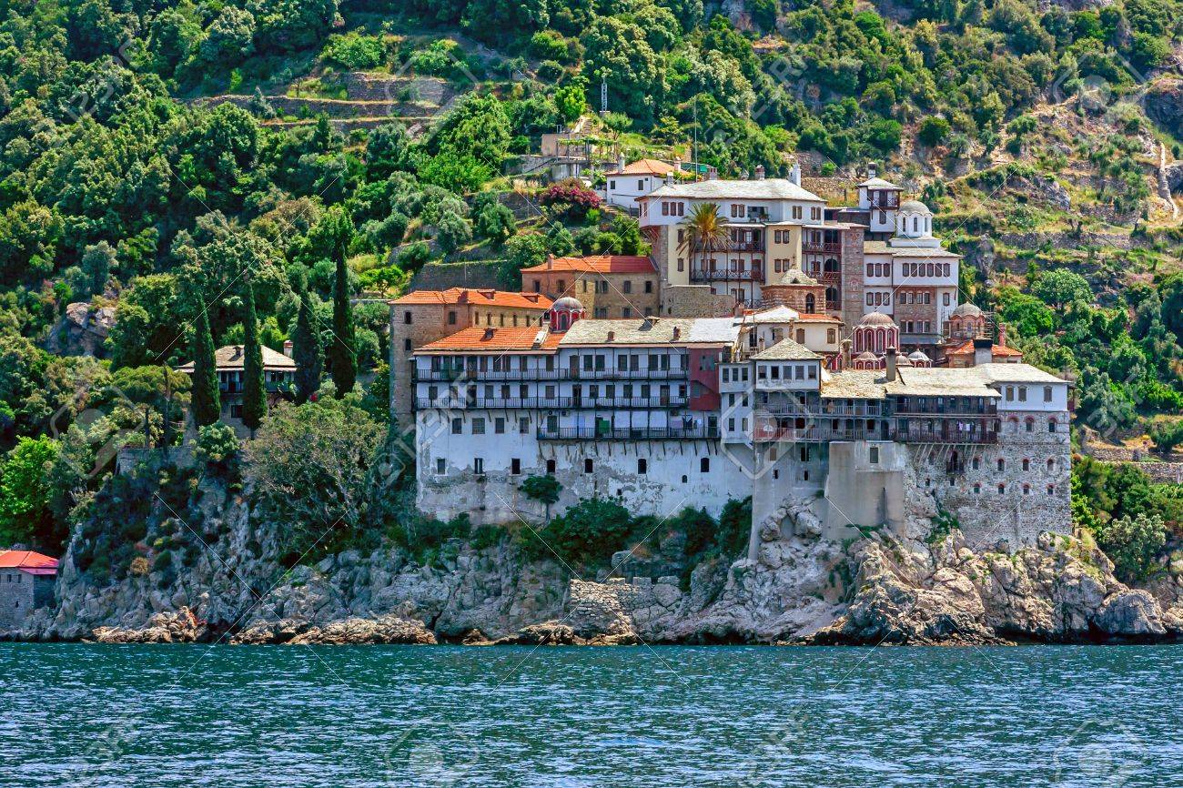 Gregoriou Monastery, Mount Athos Stock Photo, Picture And Royalty ...