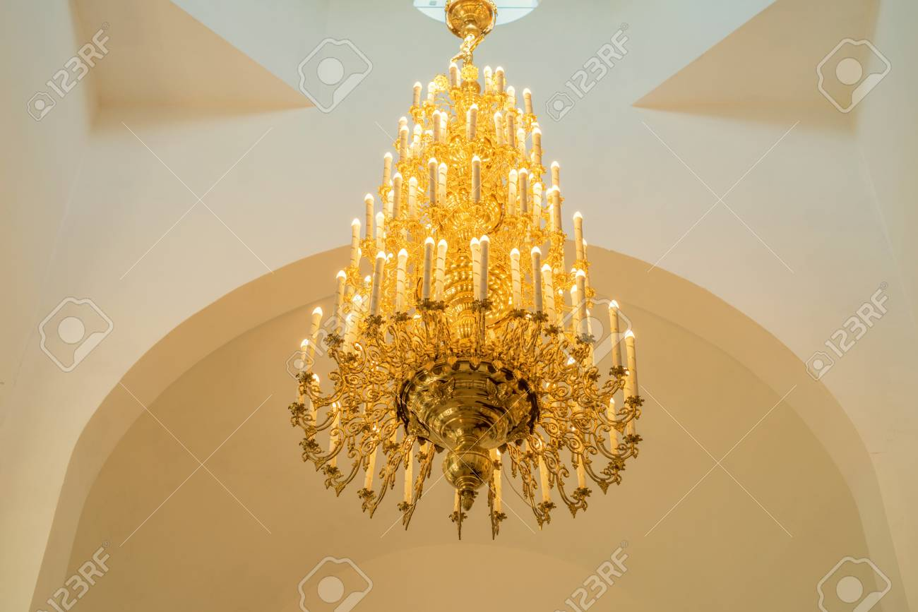 Magnificent baroque chandelier on the ceiling stock photo picture magnificent baroque chandelier on the ceiling stock photo 77764571 aloadofball Image collections