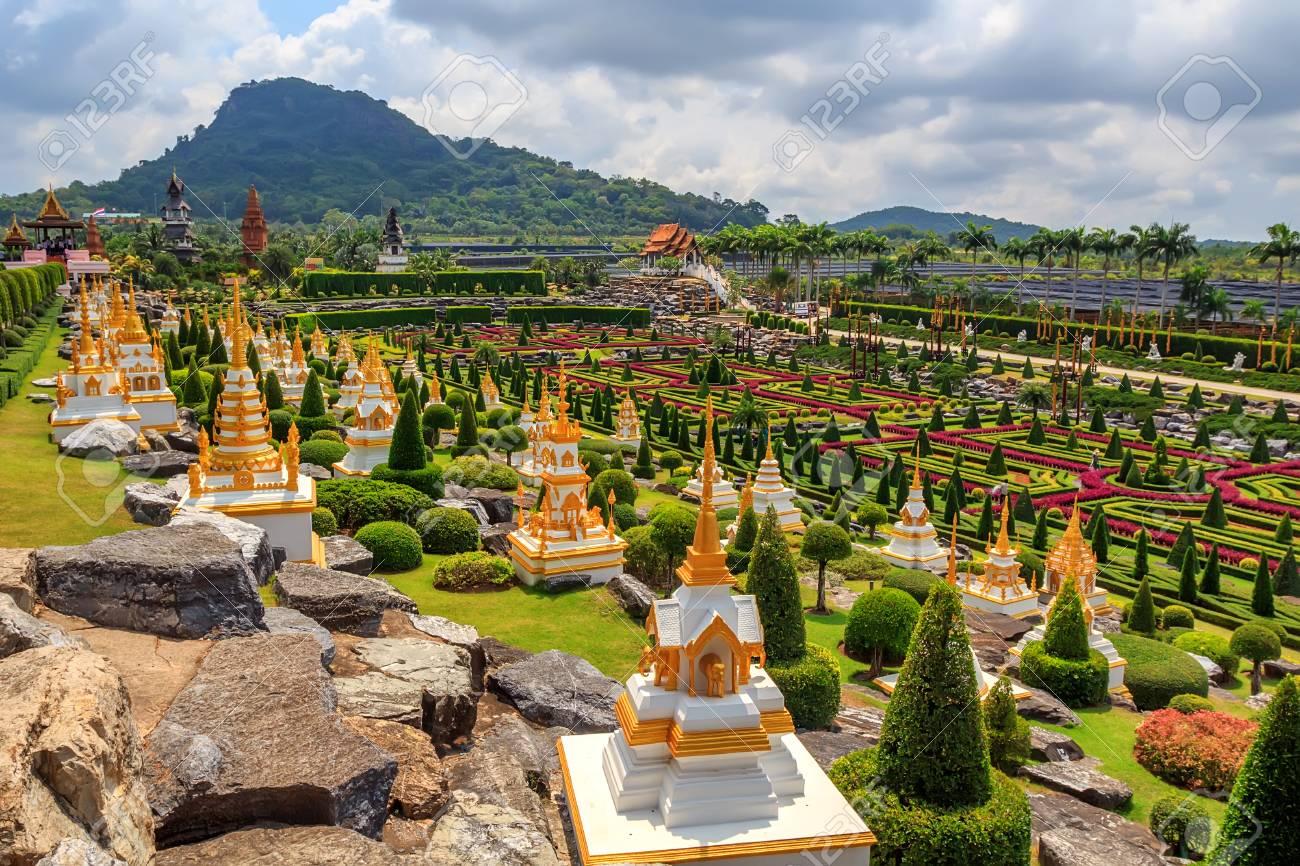 PATTAYA, THAILAND - MARCH 2013: Nong Nooch Garden Stock Photo - 84380043