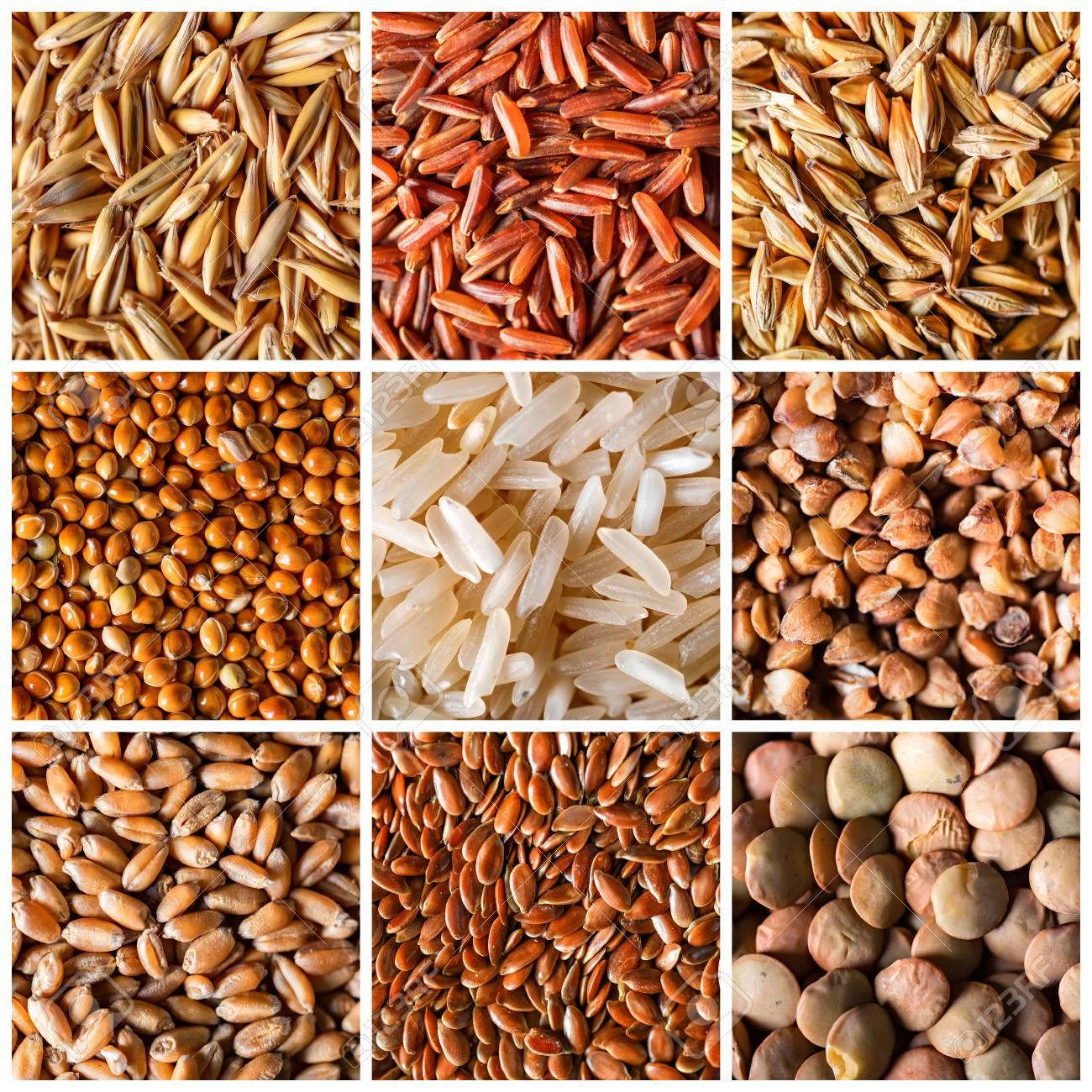背景としての自然な穀物穀物のコ...