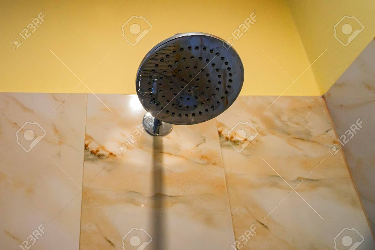 Hard Water Deposit And Rust On Shower Tap Stock Photo, Picture And ...