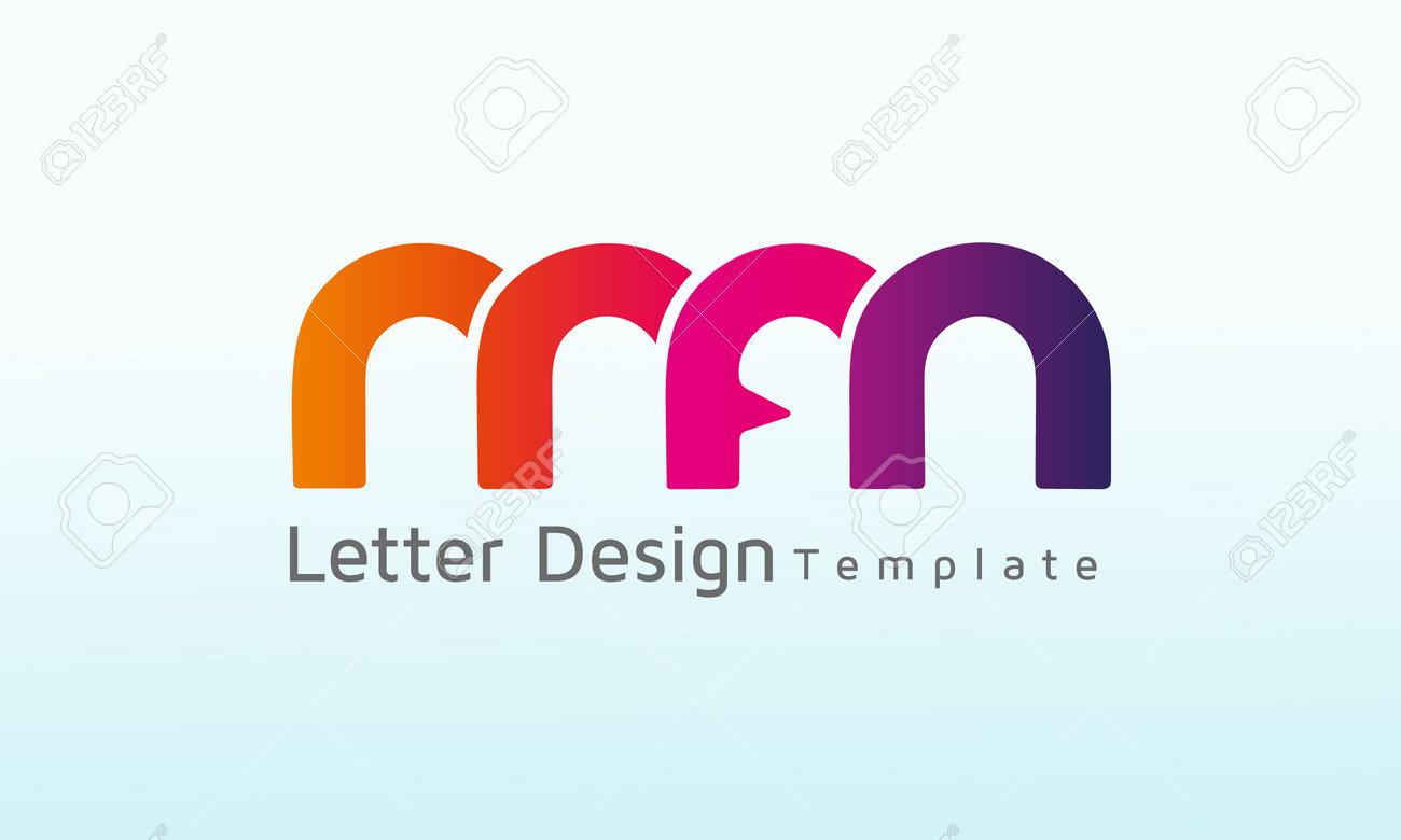 Initial Letter MFM vector logo design, logo template vector icon illustration design - 160571172