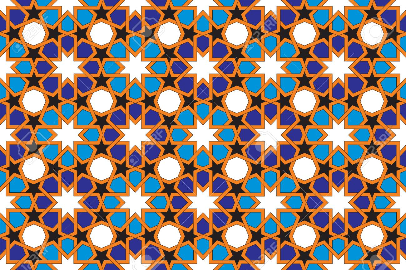 Mosaic Tile Pattern, Islamic Motif Stock Photo, Picture And Royalty ...