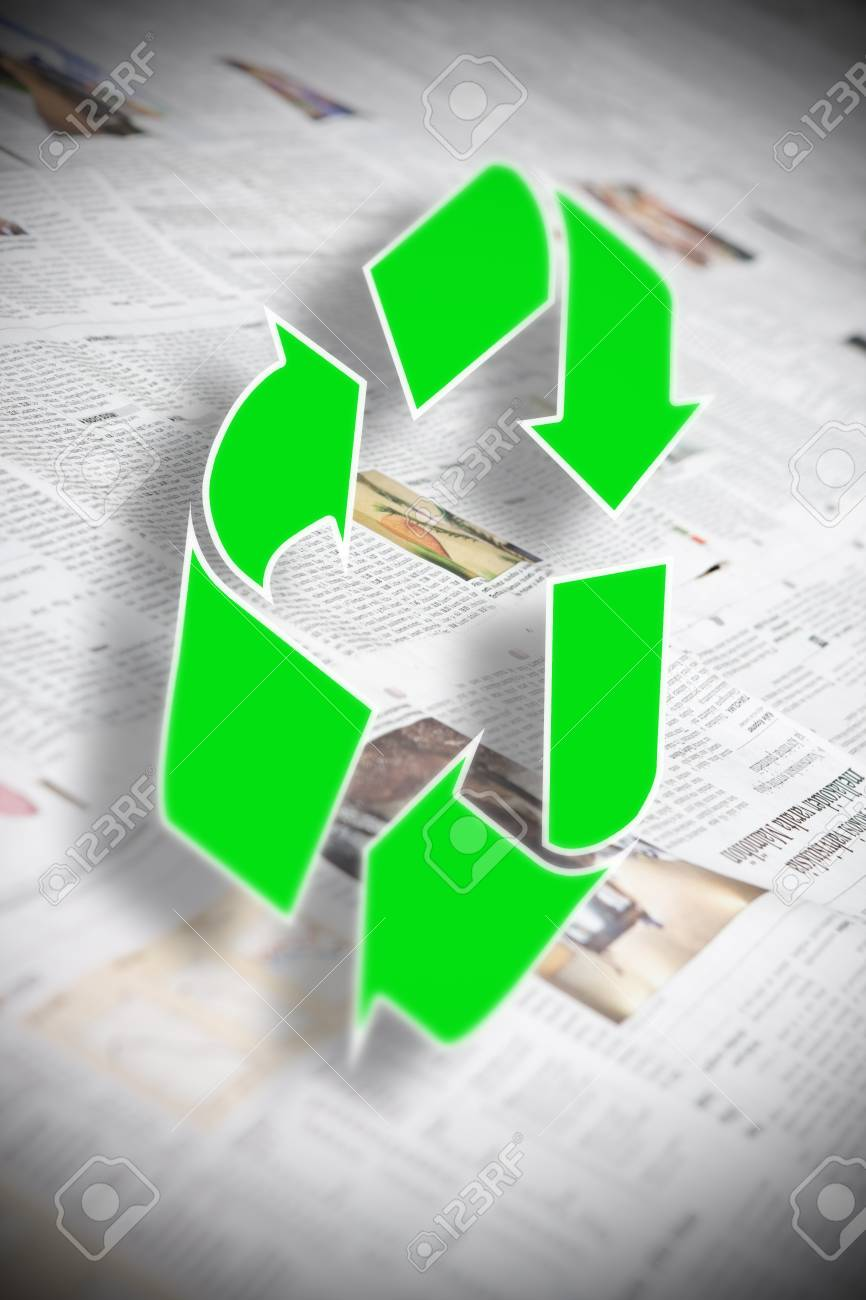 recycle newspaper Stock Photo - 4474321
