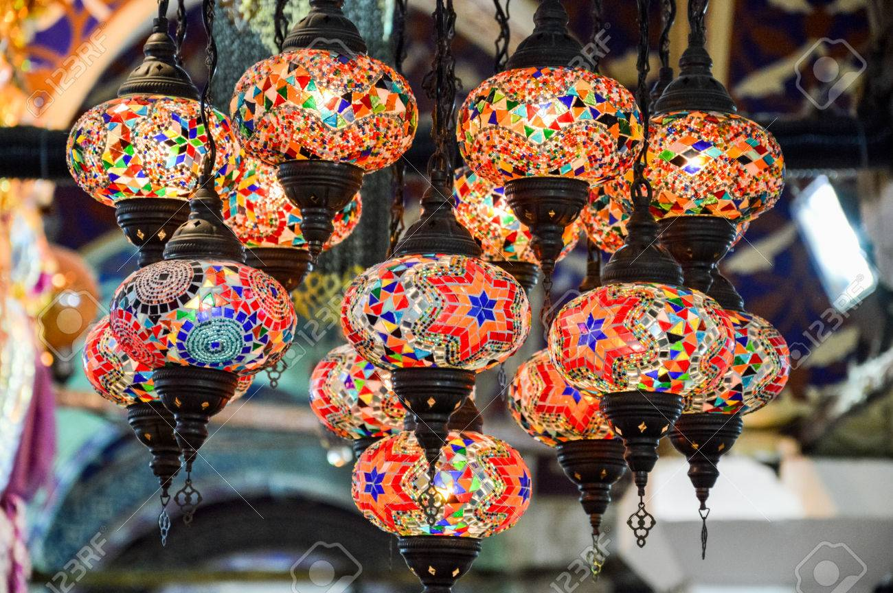 Turkish Decorative Lamps For Sale On Grand Bazaar At Istanbul Stock Photo Picture And Royalty Free Image Image 73244022