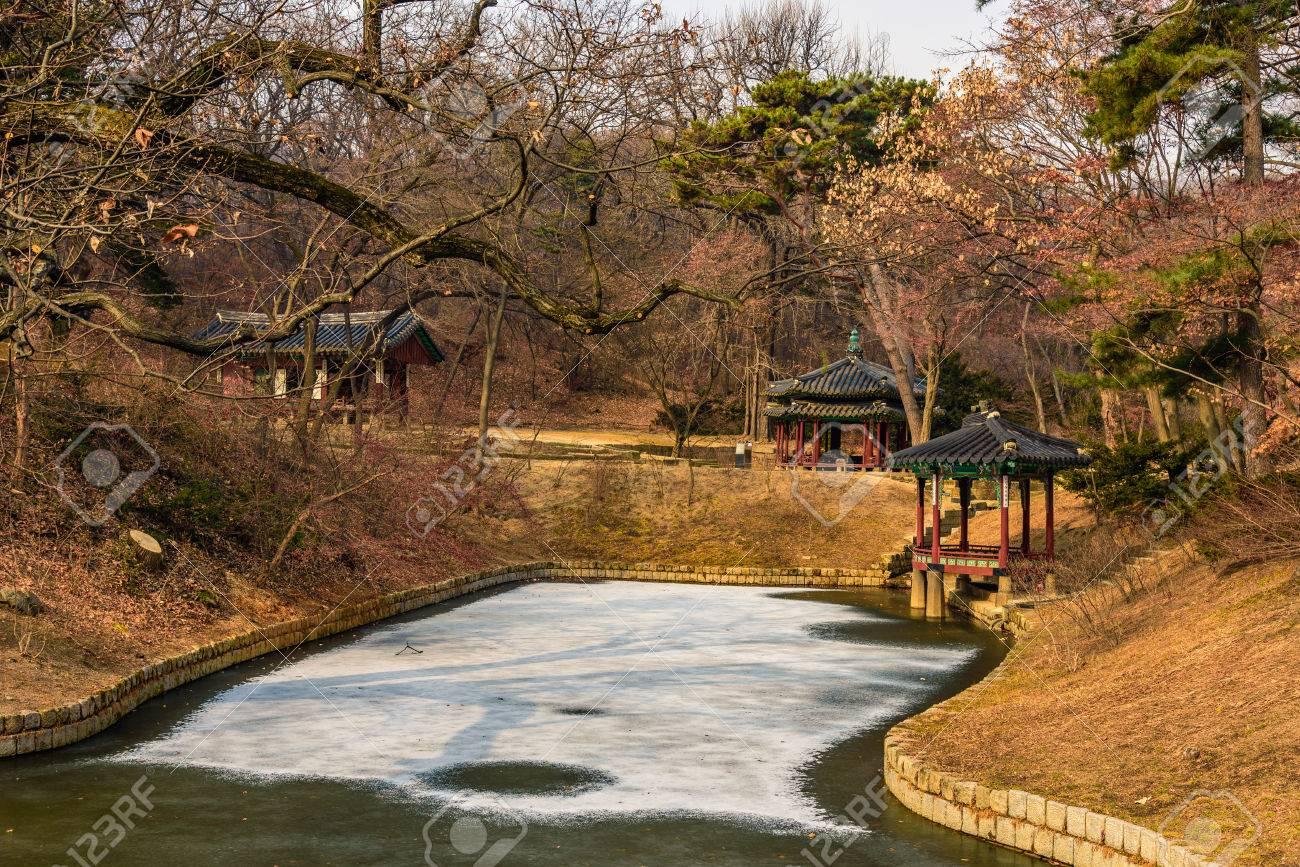 Changdeokgung Palace - Secret Garden Pagodas In Winter Season ...