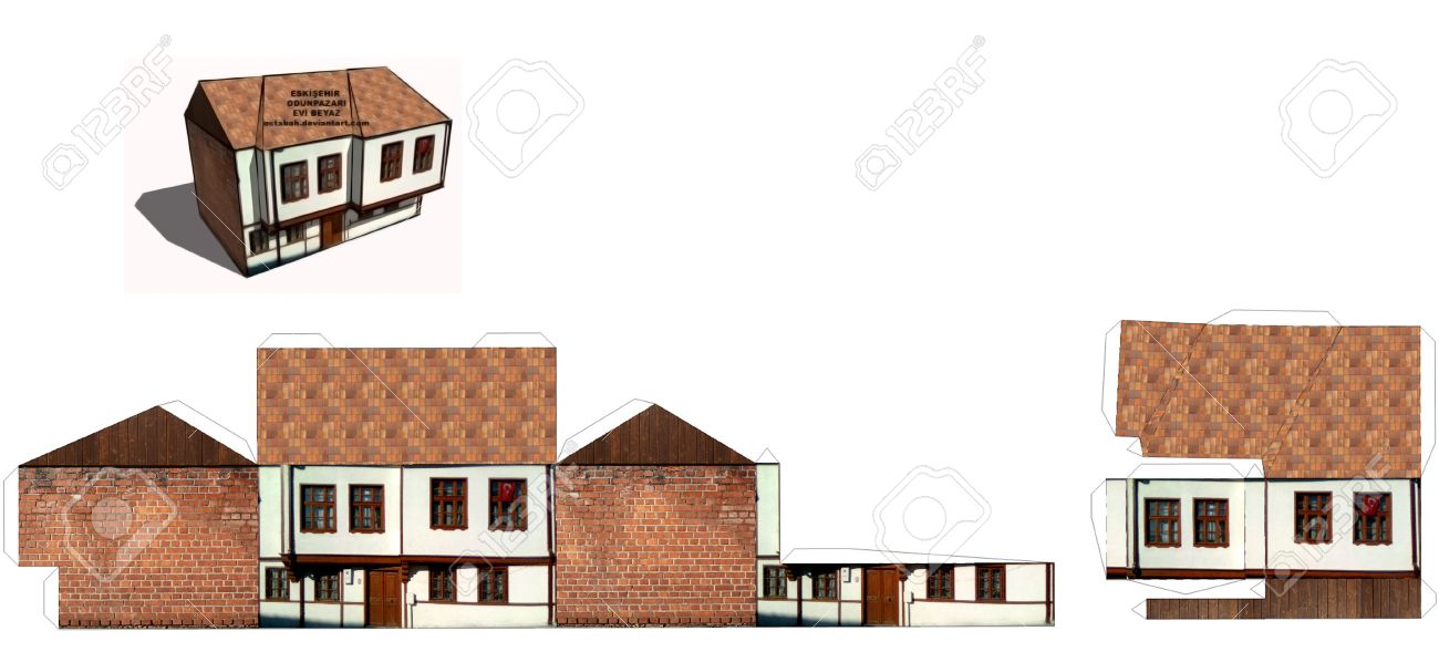 image relating to Free Printable 3d Buildings known as 3D Printable Paper Craft Planning
