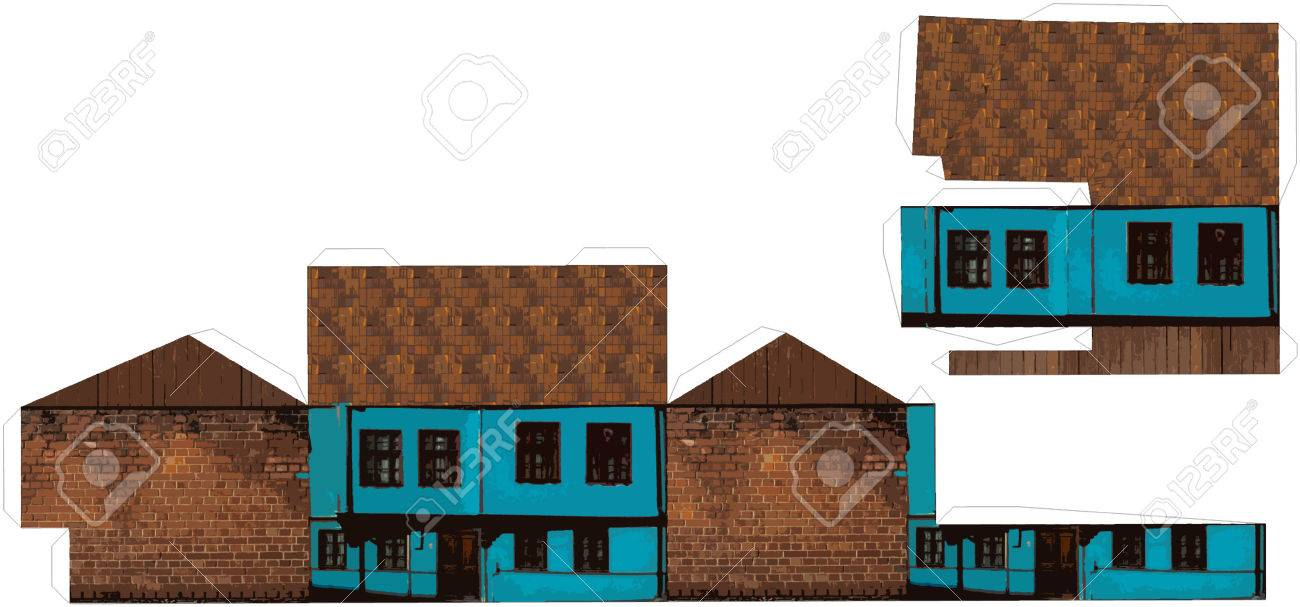 photograph regarding Free Printable 3d Buildings called 3D Printable Paper Craft Coming up with