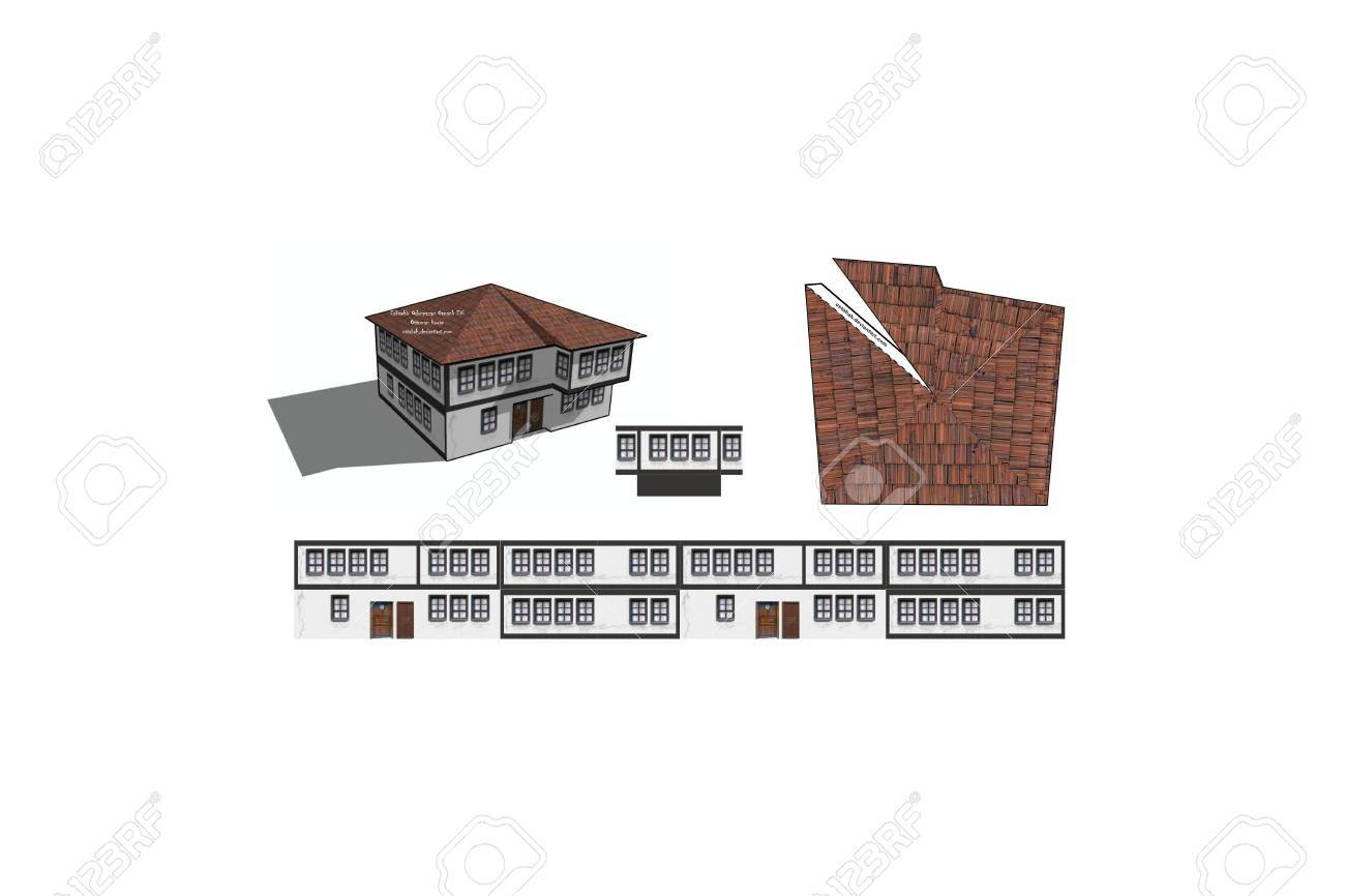 picture about Free Printable 3d Buildings titled 3D Printable Paper Craft Acquiring
