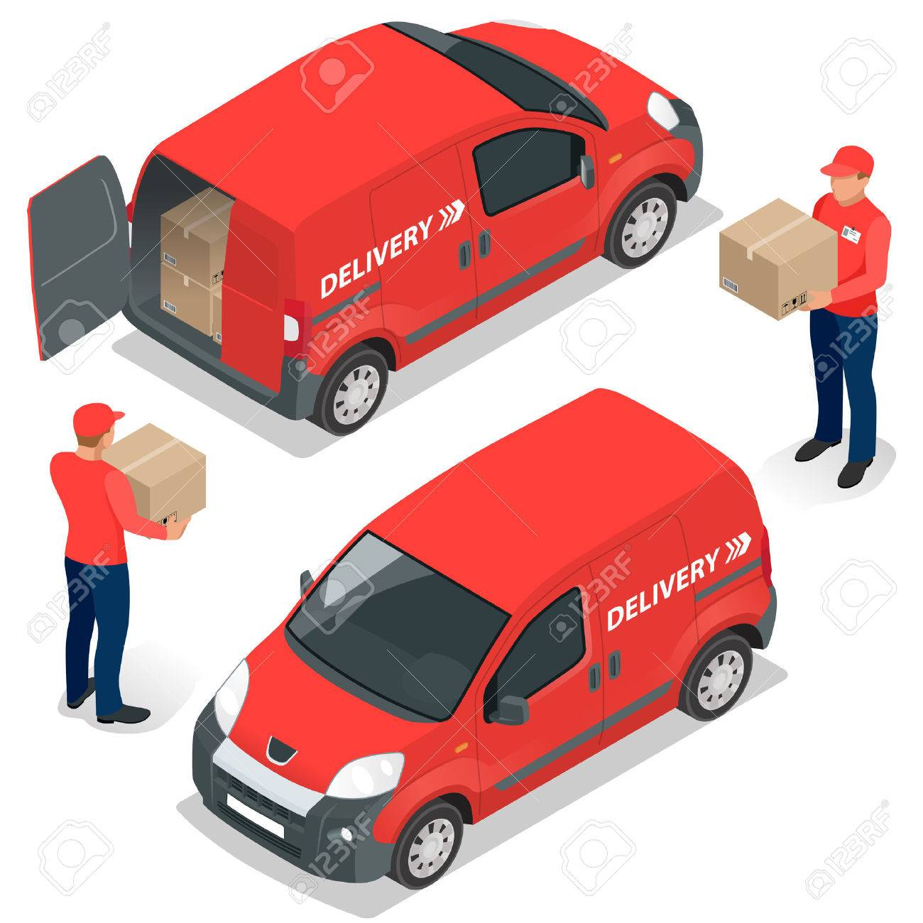 Free delivery Flat vector isometric illustration - 52362050