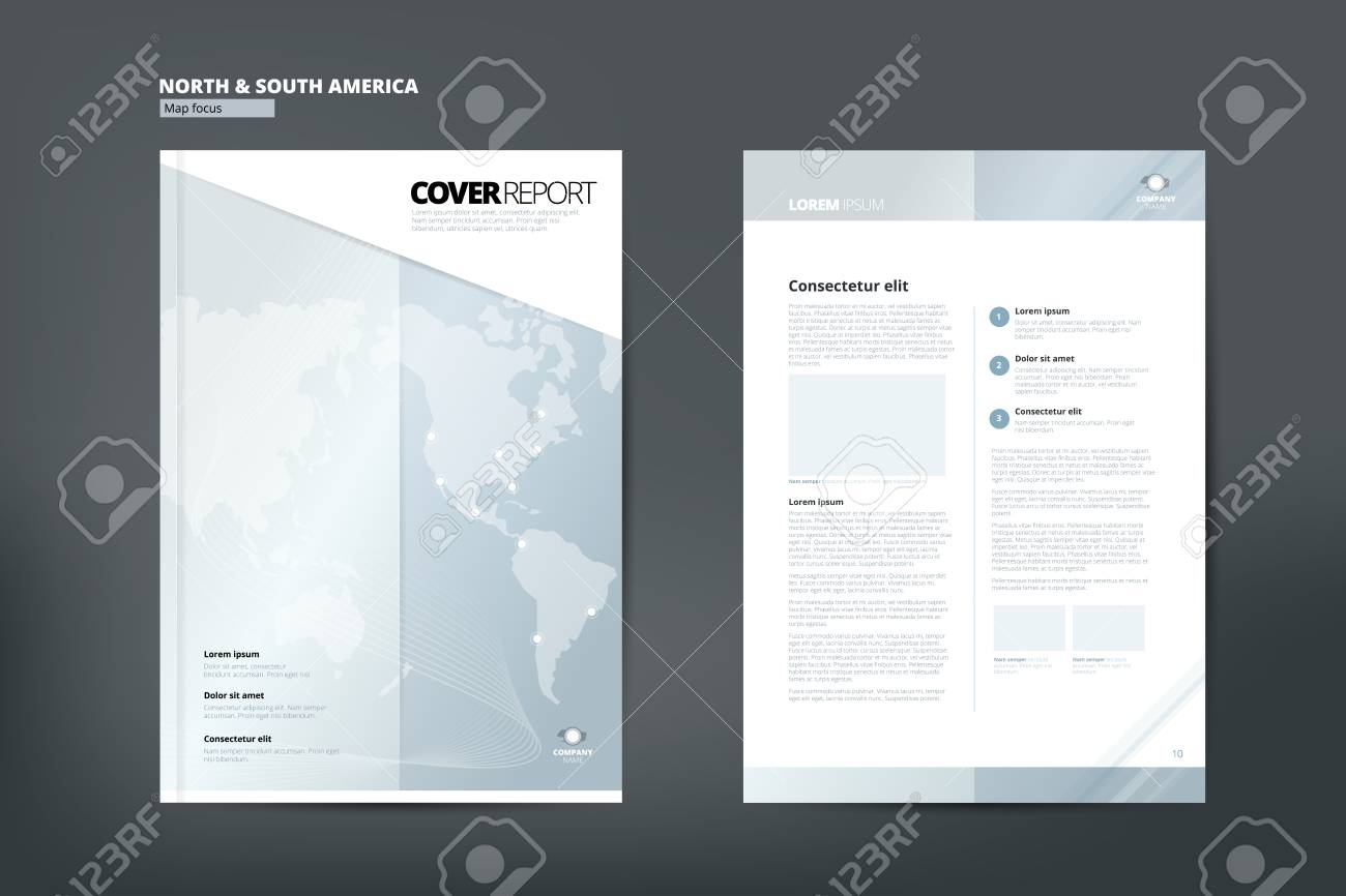 Moderne Abdeckung Geschäftsbericht Broschüre Business Broschüre