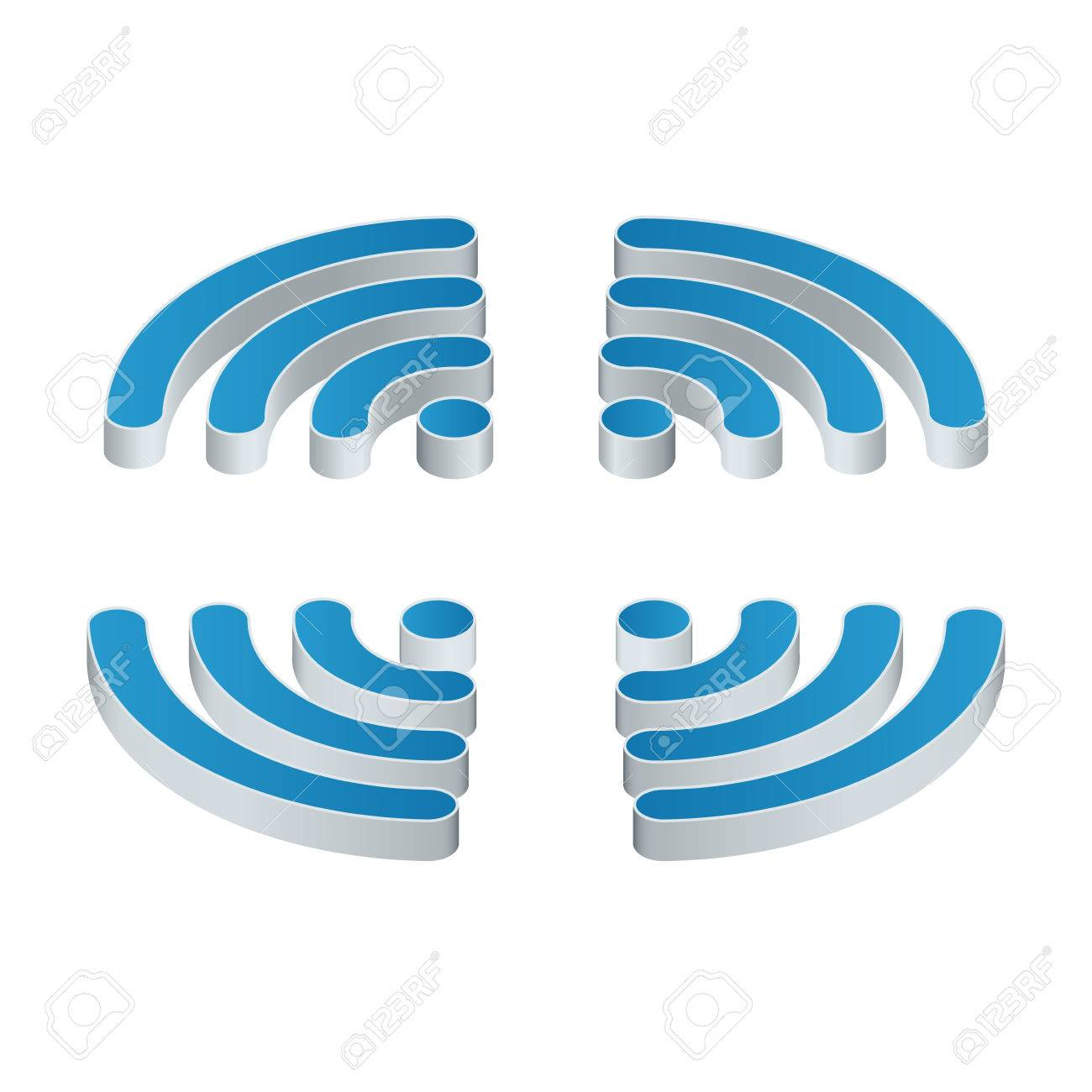 wifi isometric icon set of four wifi icons for business or rh 123rf com free commercial use vectors no attribution free commercial use vector clipart