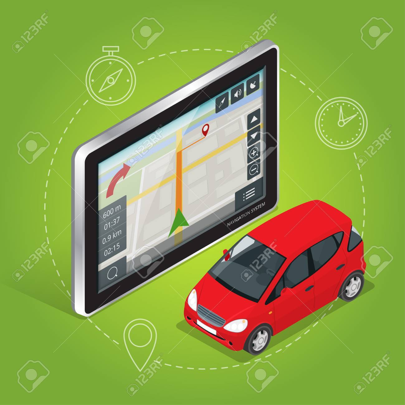 Geolocation gps navigation touch screen tablet  Mobile GPS navigation