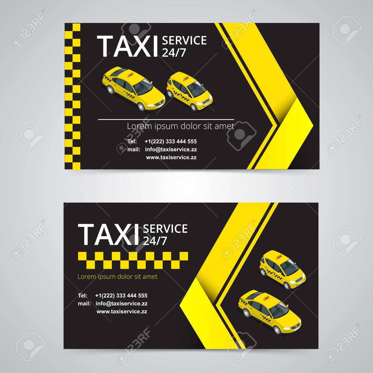 Carte De Taxi Pour Les Chauffeurs Service Modle Visite Vecteur Socit Marque Image Identit Logo