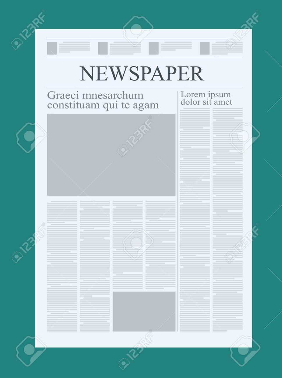 Plantilla De Periódico De Diseño Gráfico, Destacando Figuras Y ...
