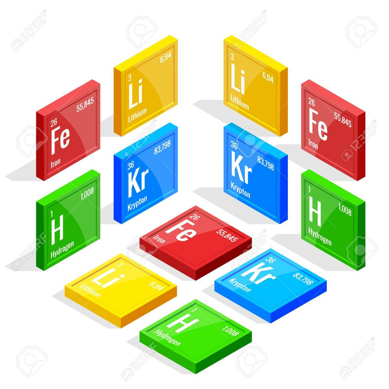 Isometric set of elements of the periodic table Mendeleev s Periodic Table. Vector illustration lithium  sc 1 st  123RF.com & Isometric Set Of Elements Of The Periodic Table Mendeleev S Periodic ...