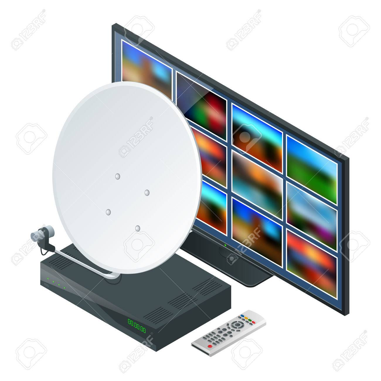 Isometric Icon An Antenna A Remote And Receiver For Satellite Royalty Free Cliparts Vectors And Stock Illustration Image 85640697
