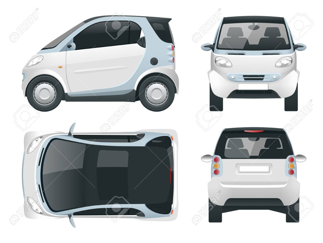 Hi Tech Automotive >> Vector Compact Smart Car Small Compact Hybrid Vehicle Eco Friendly
