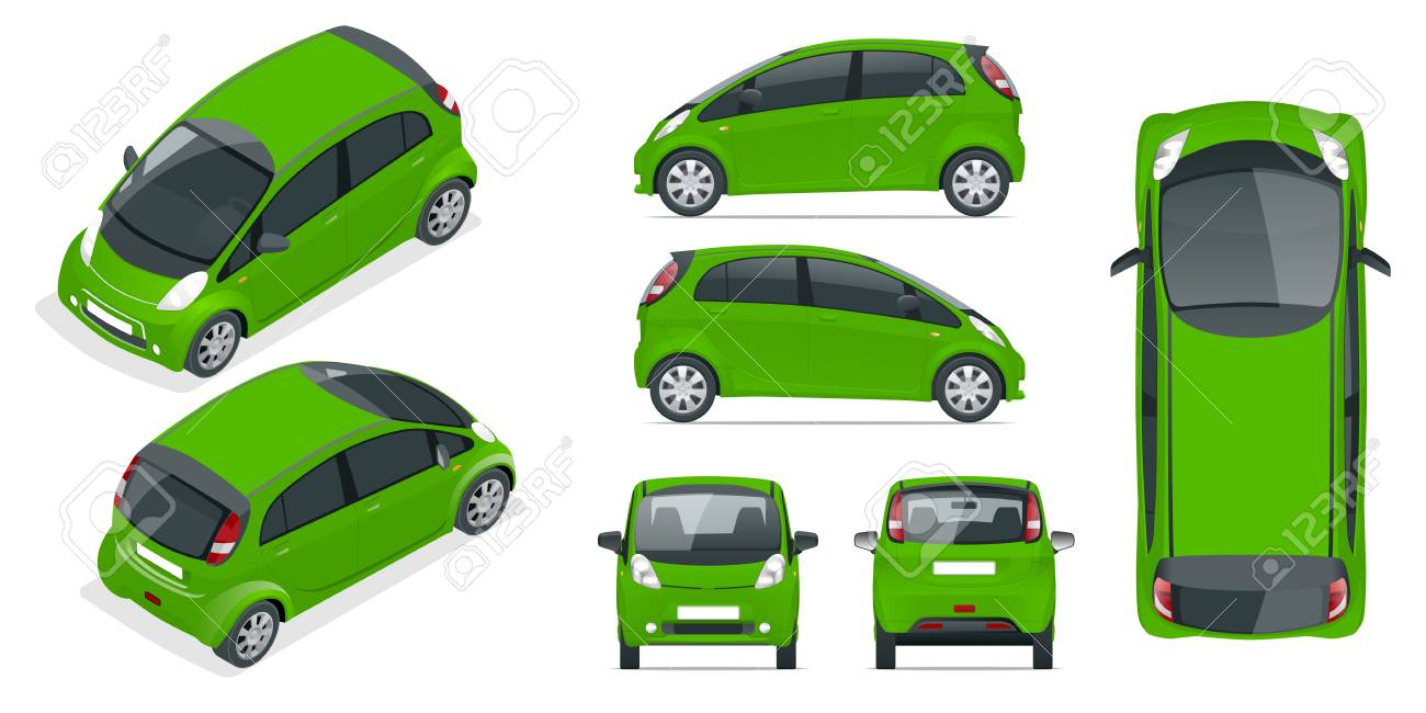 Hi Tech Automotive >> Small Compact Electric Vehicle Or Hybrid Car Eco Friendly Hi Tech
