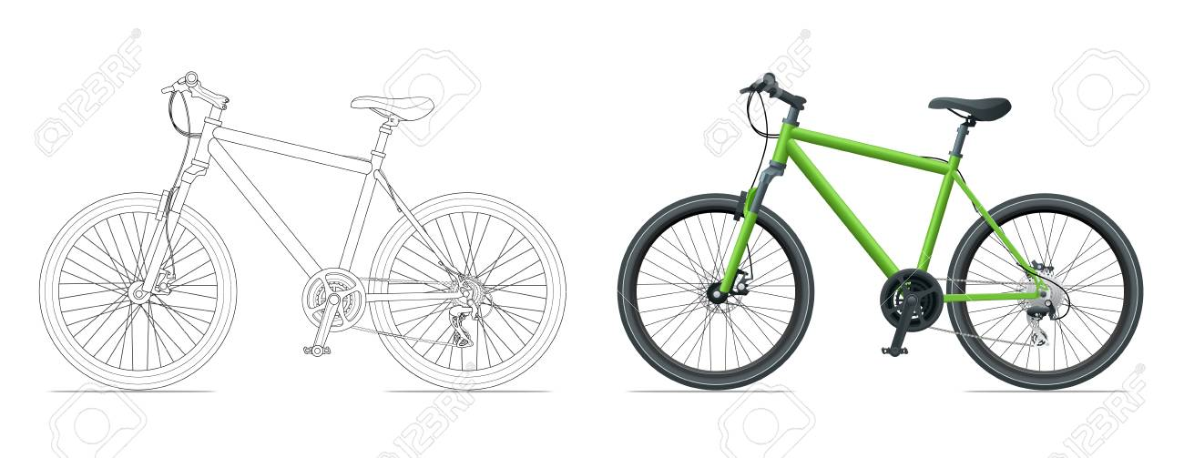 Mountain Bike Template Vector Illustration Royalty Free Cliparts ...