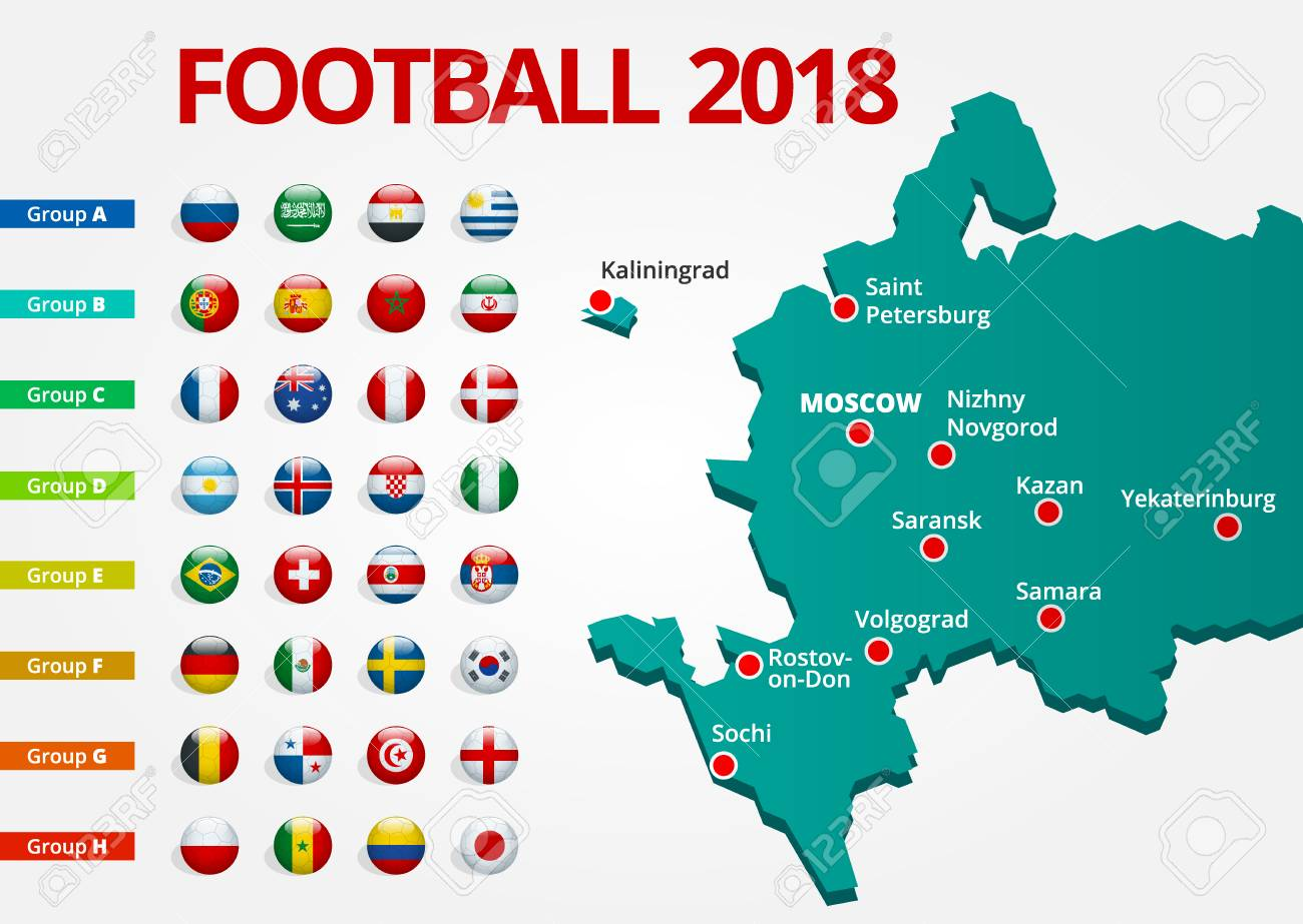 Football 2018 Europe Qualification All Groups And Map With