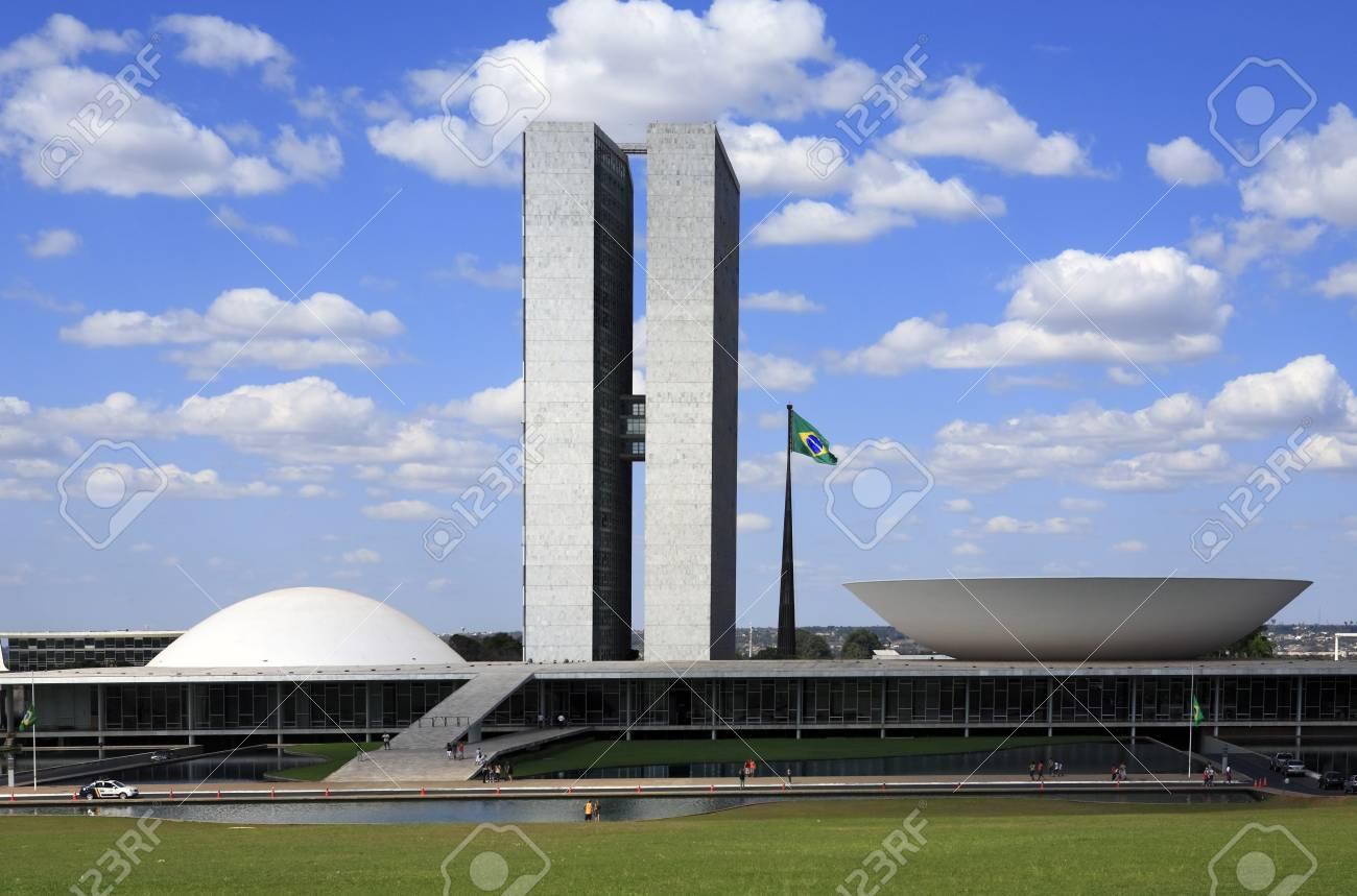The National Congress of Brazil in brasilia city capital of brazil - 121743664