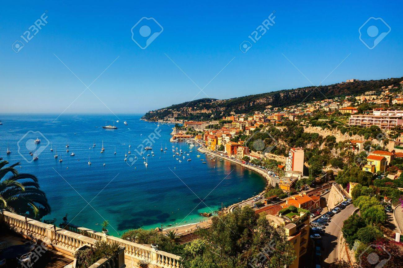 beautiful village of villefranche sur mer on the french riviera france cote d'azur - 6974341