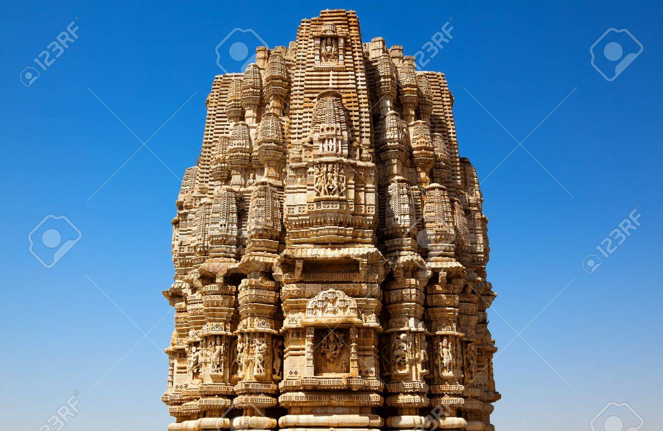 inside the Chittorgarh fort aera in rajasthan state in india Stock Photo - 9823794