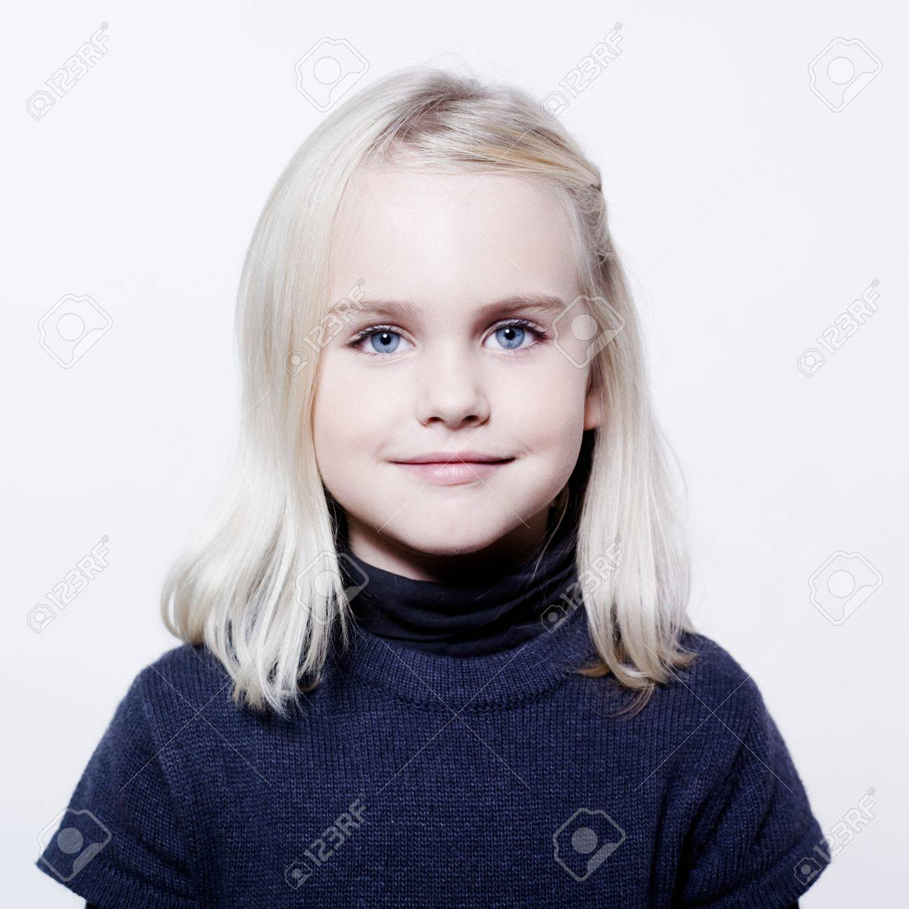 studio portrait of a caucasian cute litle gir Stock Photo - 9823699
