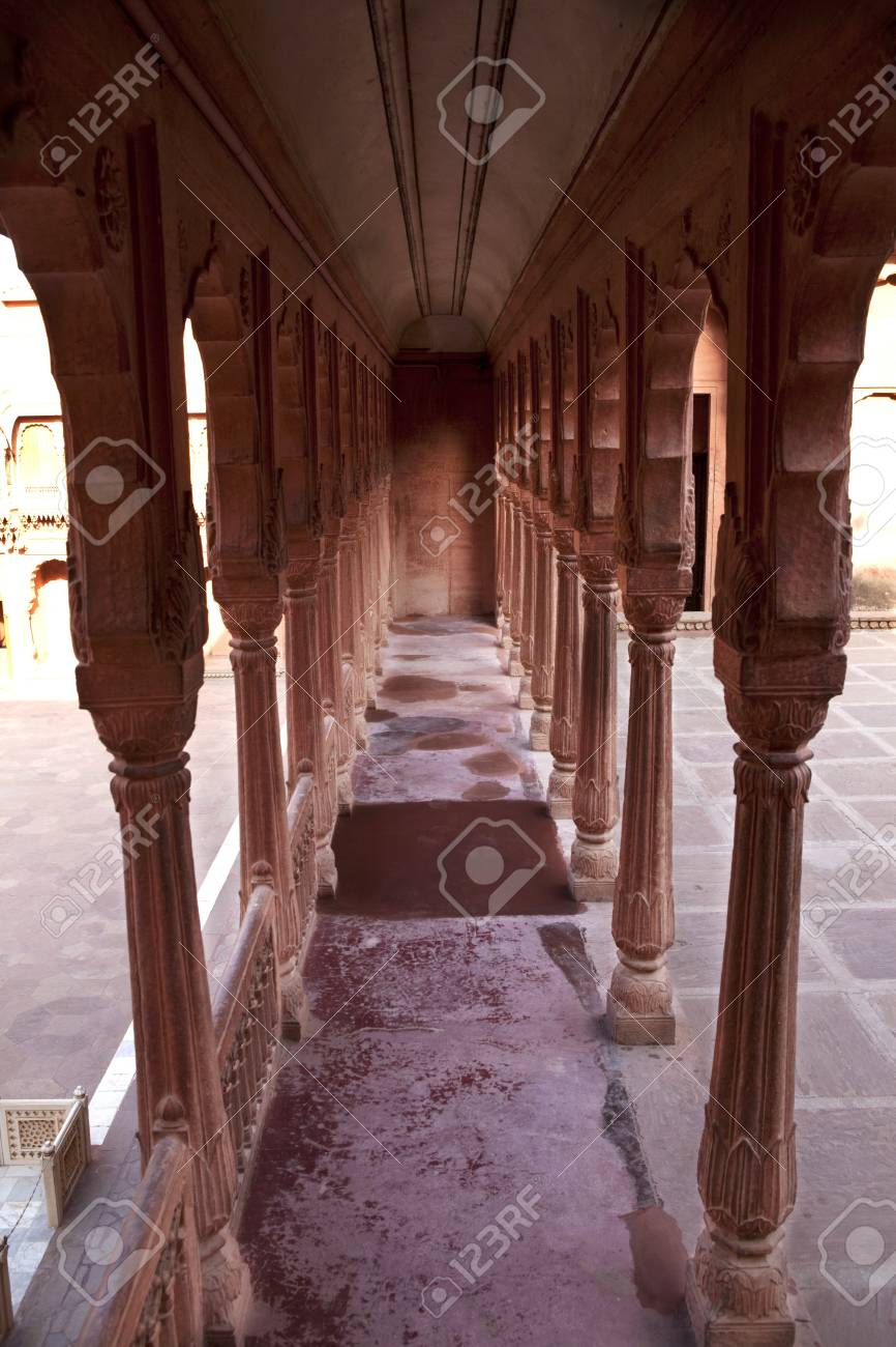Junagarh Fort in city of Bikaner rajasthan state in indi Stock Photo - 9823815