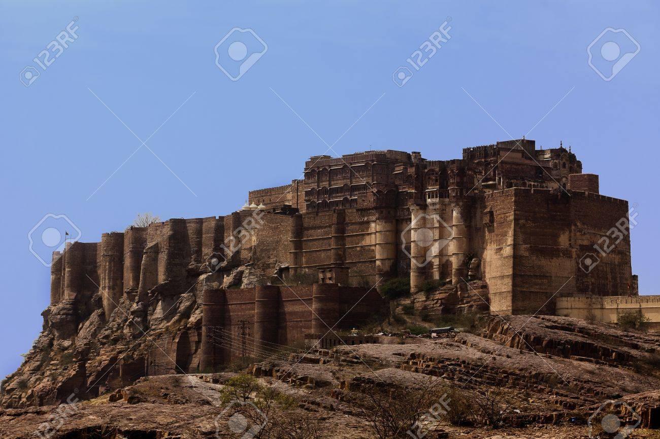 Meherangarh Fort in the beautiful city of jodhpur in rajasthan state in india Stock Photo - 9841262