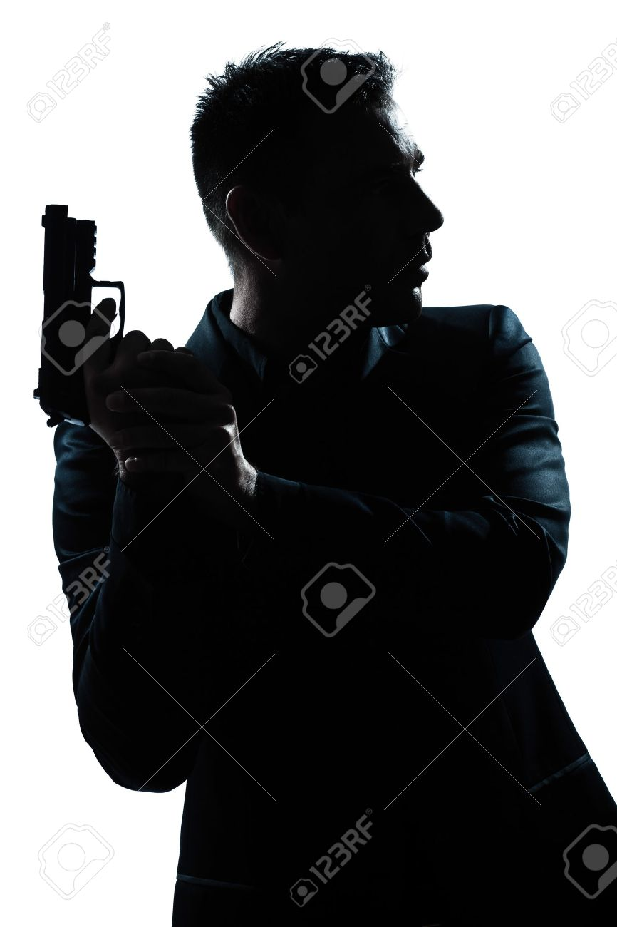 Man Holding Gun Down Detective Man Holding Gun