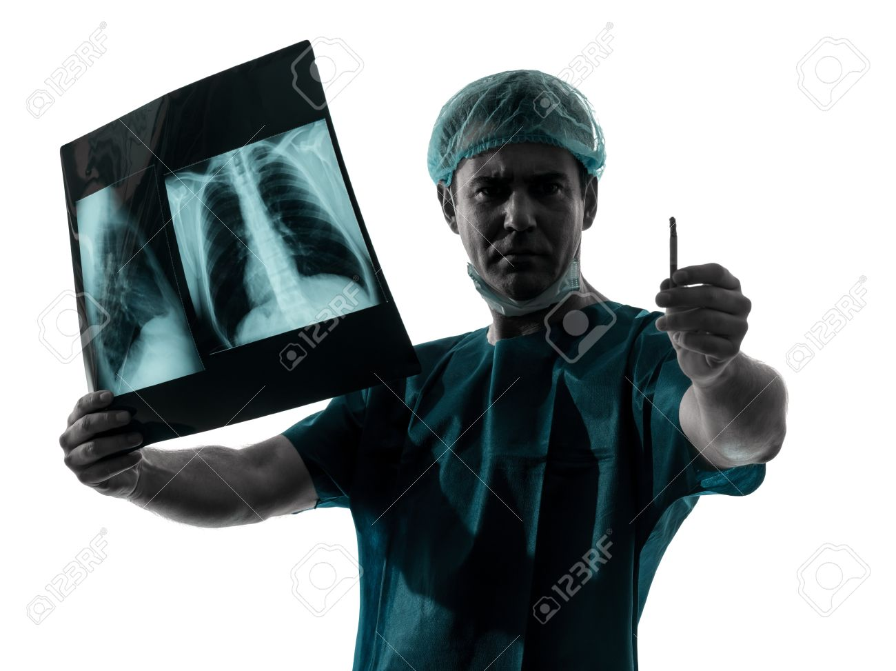doctor surgeon radiologist Surgeon Silhouette